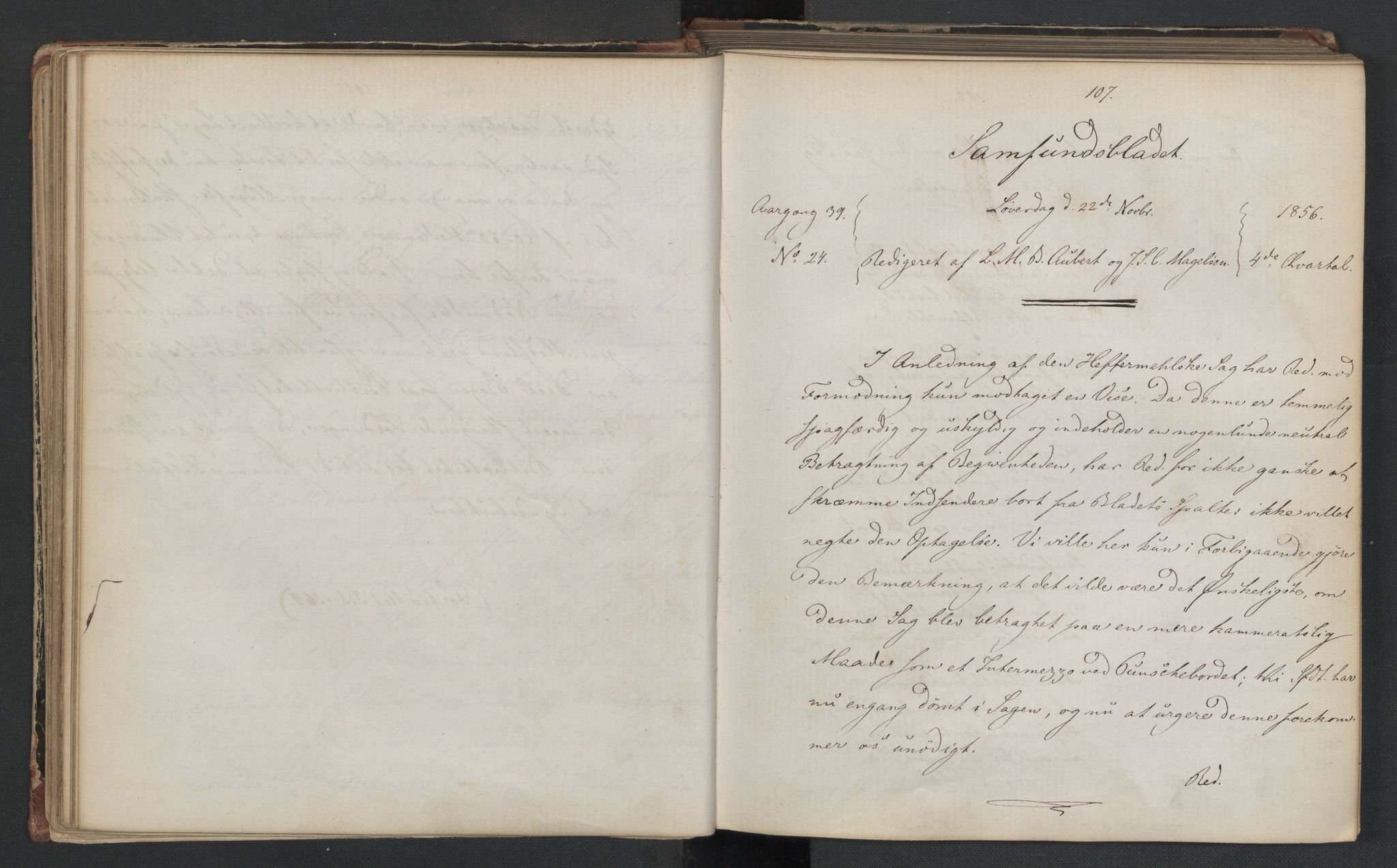 RA, Det Norske Studentersamfund, X/Xa/L0006, 1856-1857, s. 57