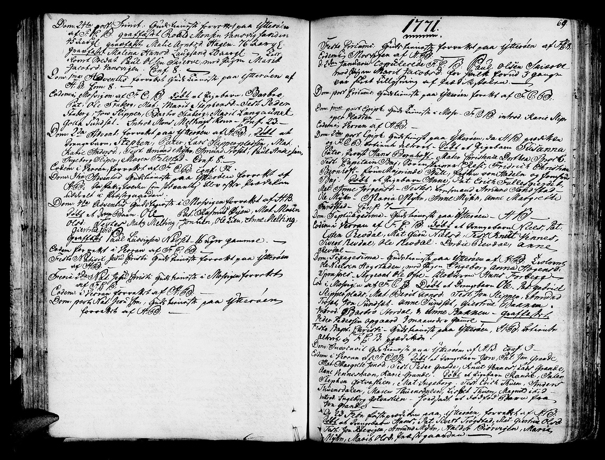 SAT, Ministerialprotokoller, klokkerbøker og fødselsregistre - Nord-Trøndelag, 722/L0216: Ministerialbok nr. 722A03, 1756-1816, s. 69