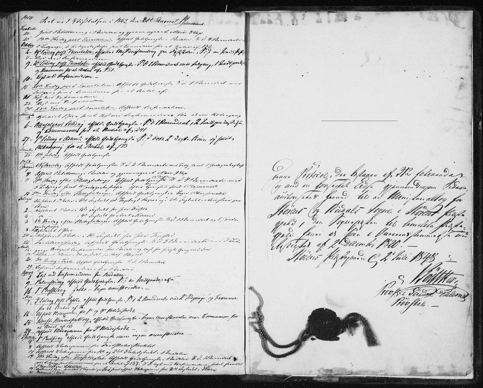 SAT, Ministerialprotokoller, klokkerbøker og fødselsregistre - Sør-Trøndelag, 687/L1000: Ministerialbok nr. 687A06, 1848-1869, s. 312b