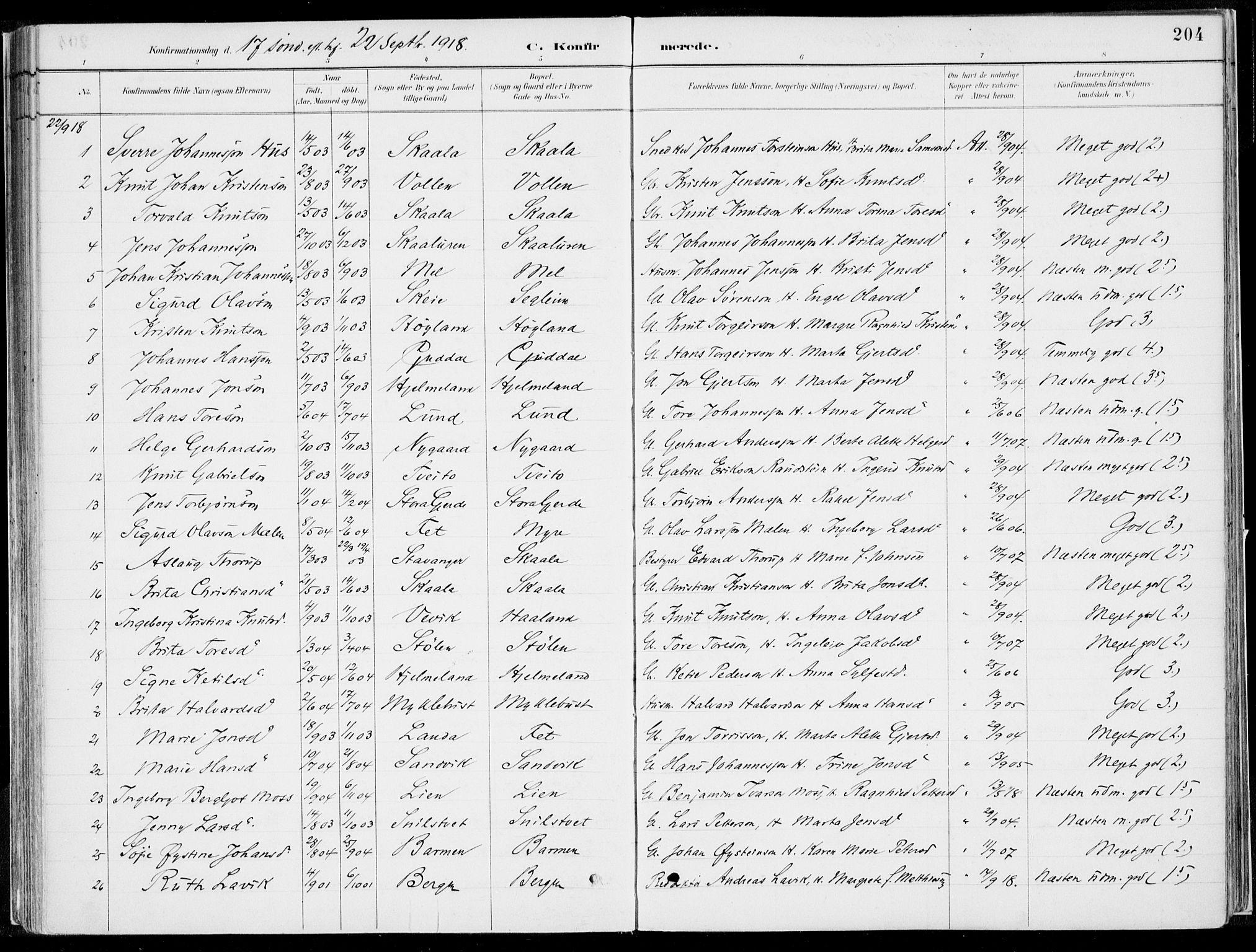 SAB, Kvinnherad Sokneprestembete, H/Haa: Ministerialbok nr. B  1, 1887-1921, s. 204