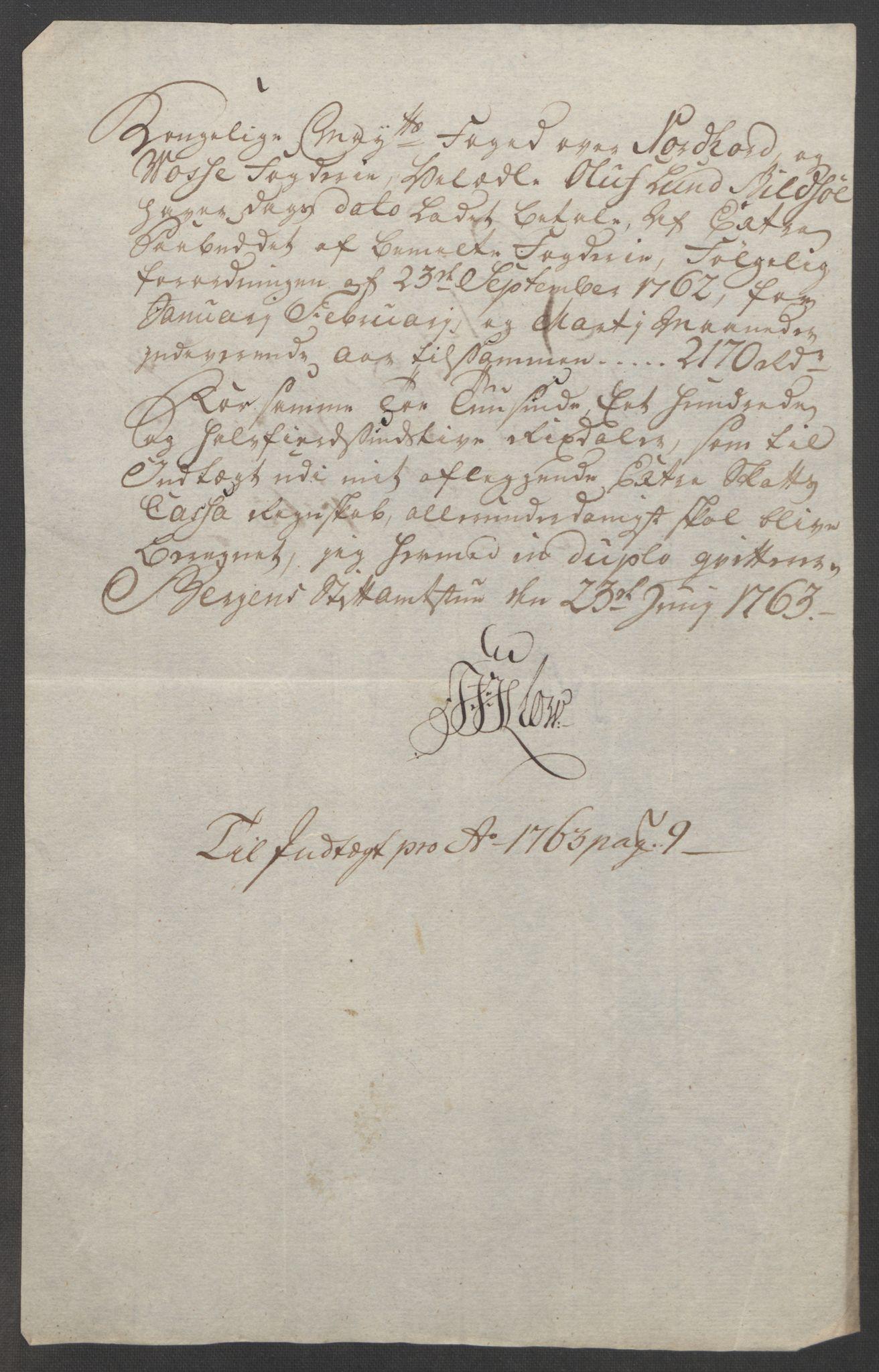 RA, Rentekammeret inntil 1814, Reviderte regnskaper, Fogderegnskap, R51/L3303: Ekstraskatten Nordhordland og Voss, 1762-1772, s. 51