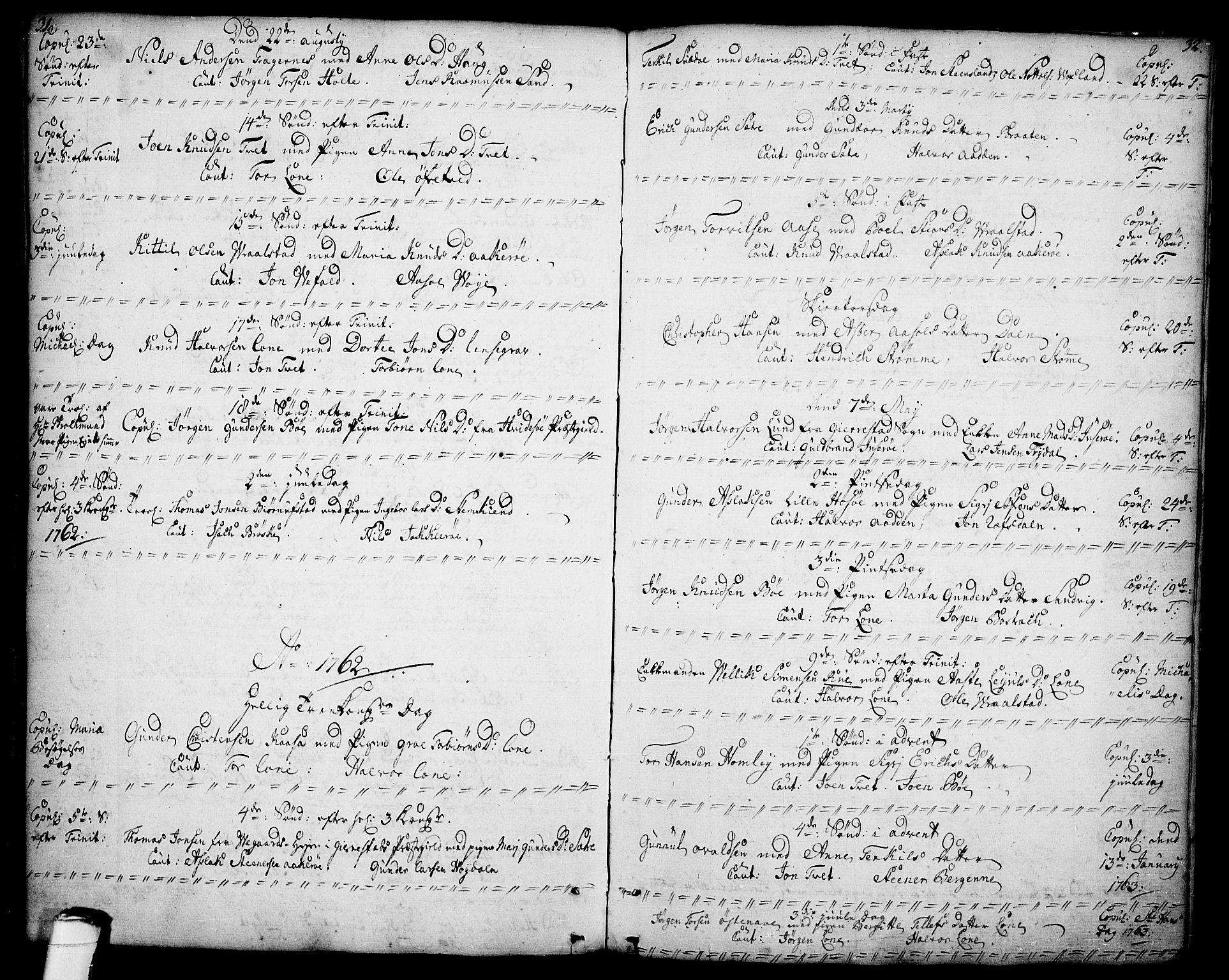 SAKO, Drangedal kirkebøker, F/Fa/L0001: Ministerialbok nr. 1, 1697-1767, s. 31-32