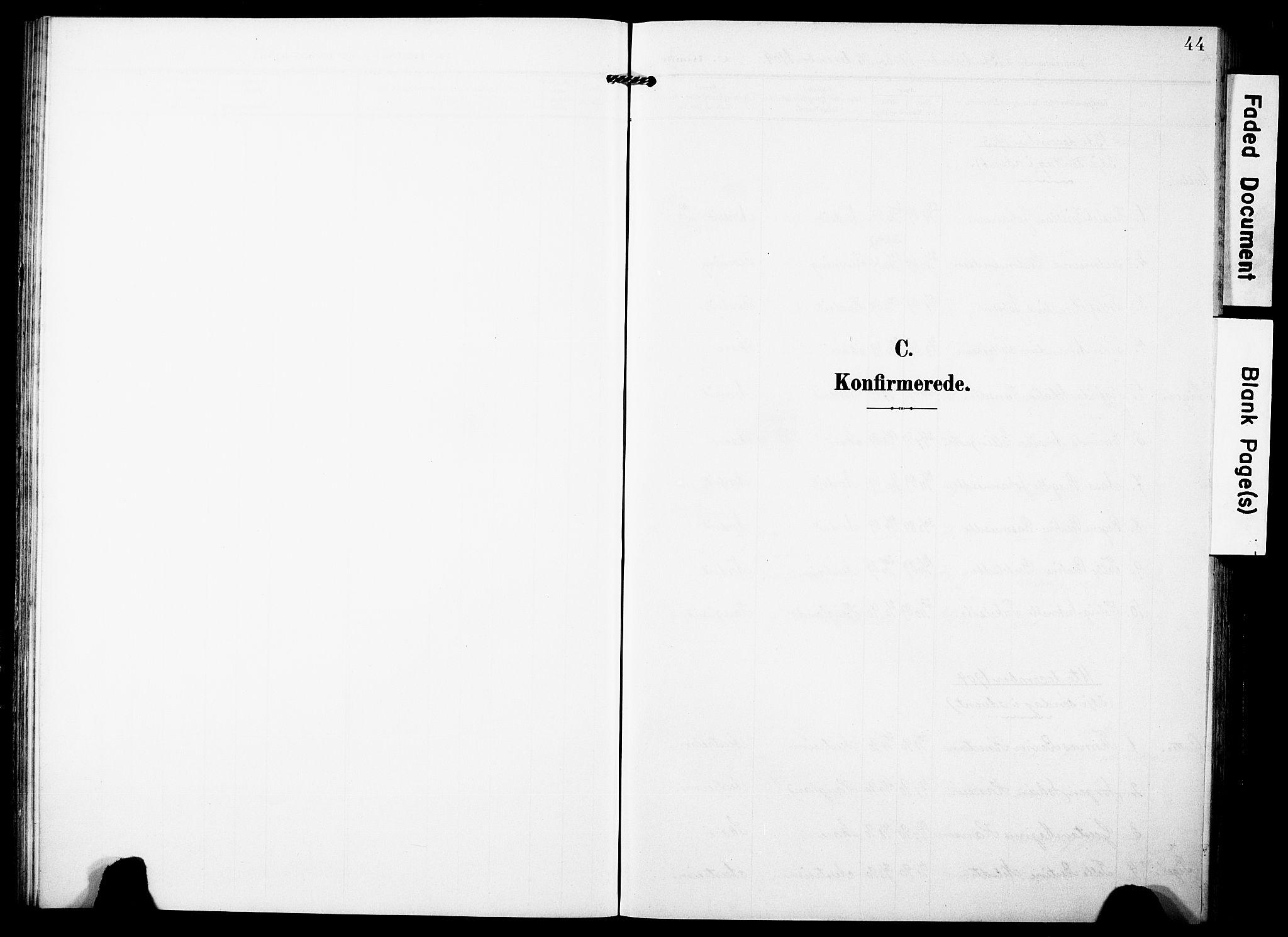 SAST, Torvastad sokneprestkontor, H/Ha/Haa/L0018: Ministerialbok nr. A 17, 1903-1925, s. 44