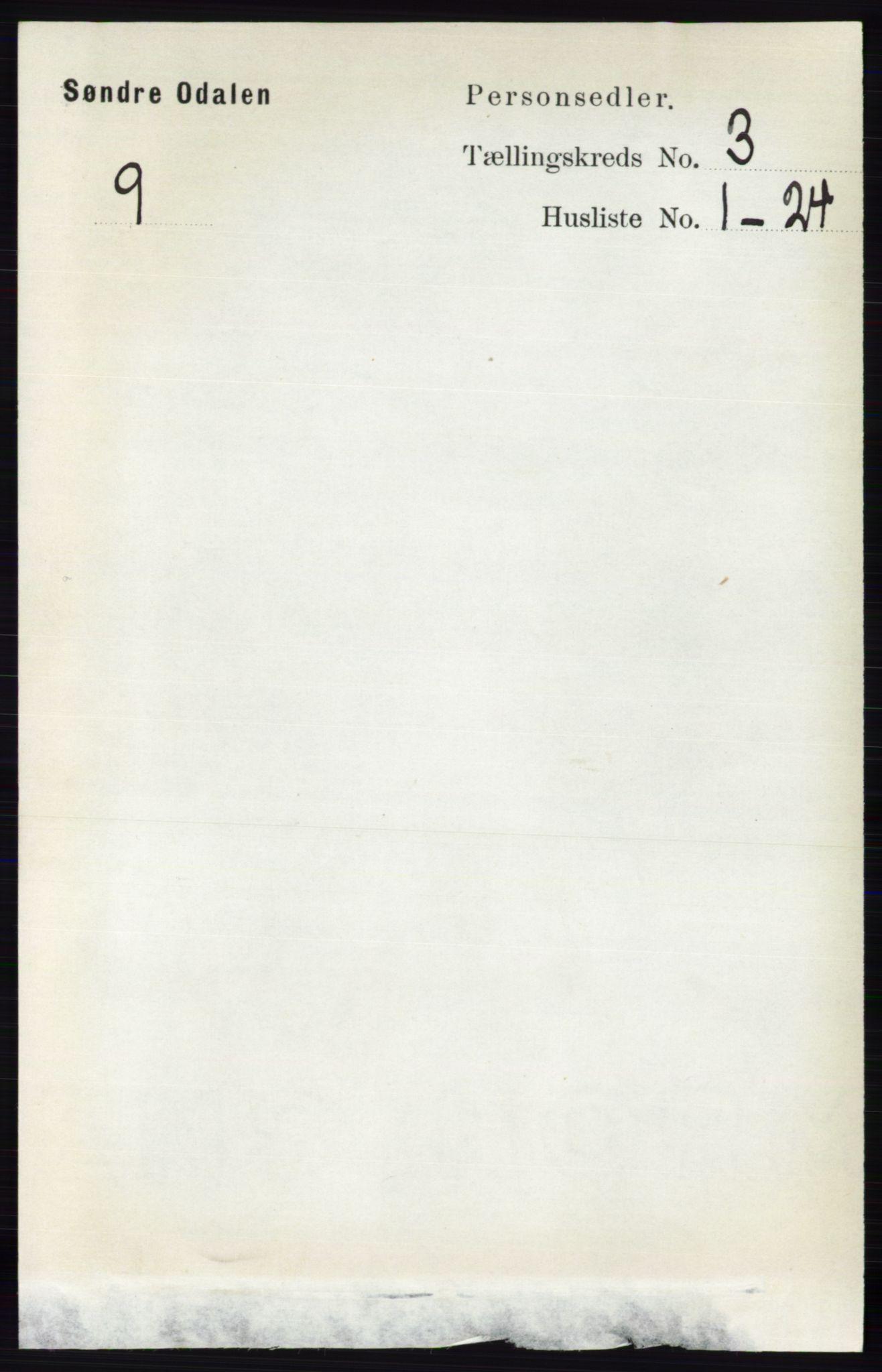 RA, Folketelling 1891 for 0419 Sør-Odal herred, 1891, s. 1152