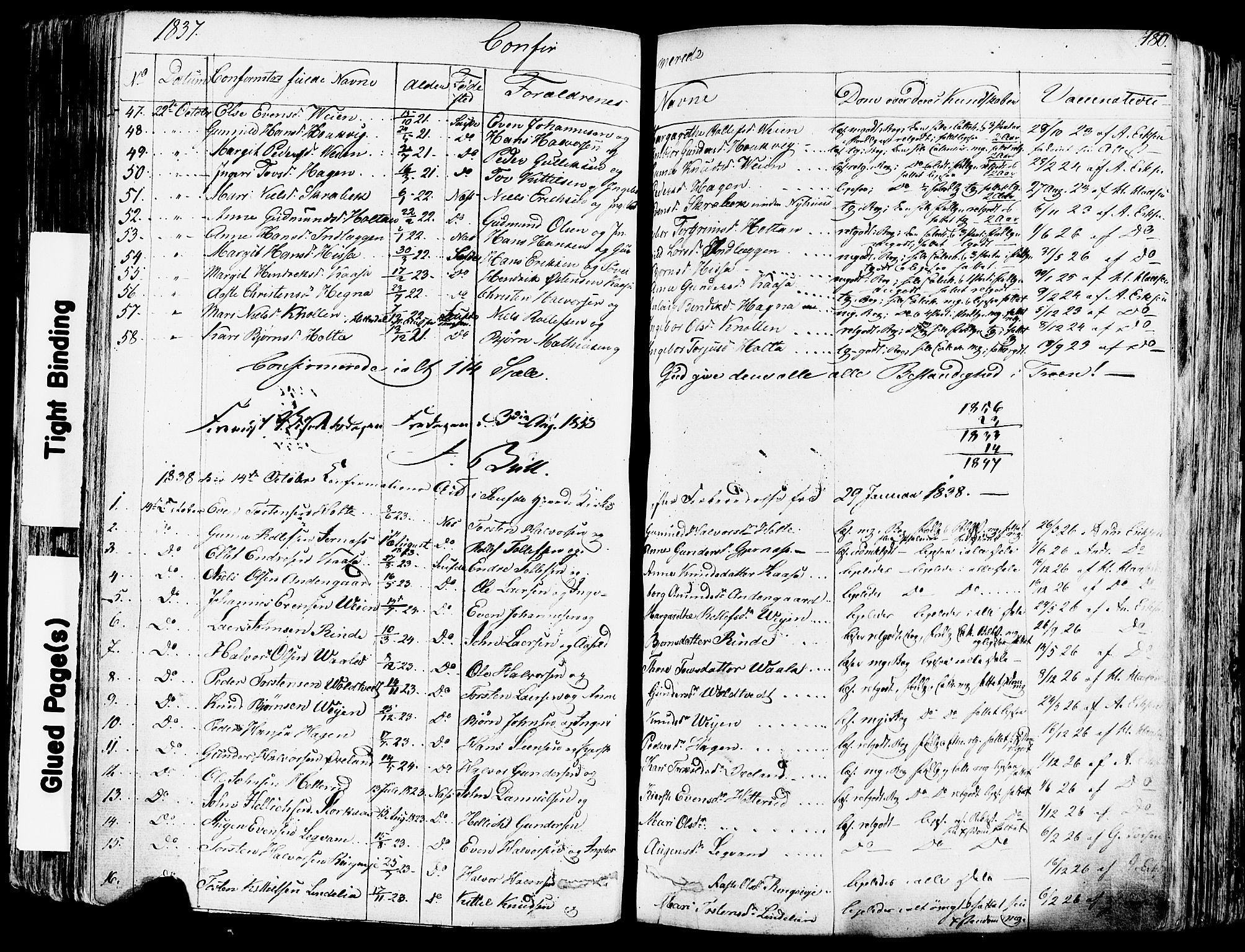 SAKO, Sauherad kirkebøker, F/Fa/L0006: Ministerialbok nr. I 6, 1827-1850, s. 180