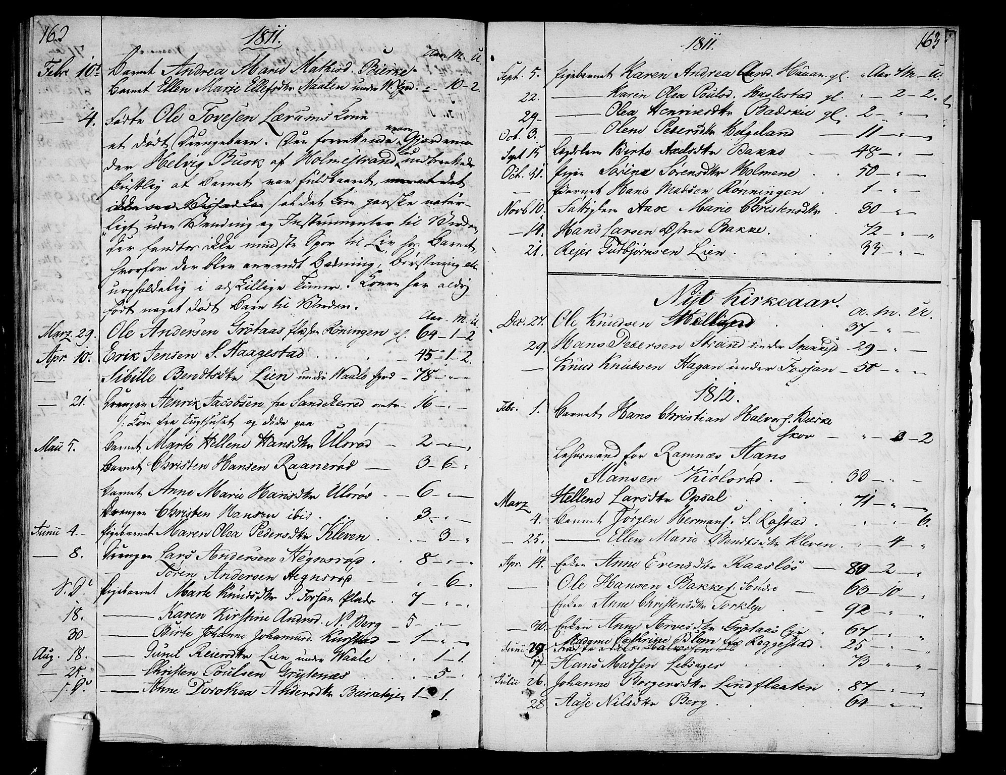 SAKO, Våle kirkebøker, F/Fa/L0006: Ministerialbok nr. I 6, 1808-1814, s. 162-163