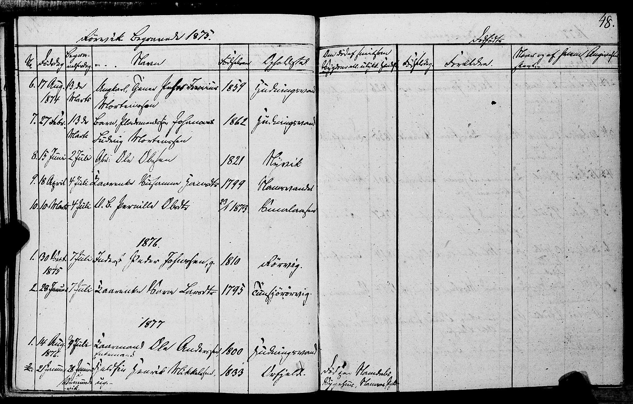 SAT, Ministerialprotokoller, klokkerbøker og fødselsregistre - Nord-Trøndelag, 762/L0538: Ministerialbok nr. 762A02 /1, 1833-1879, s. 48