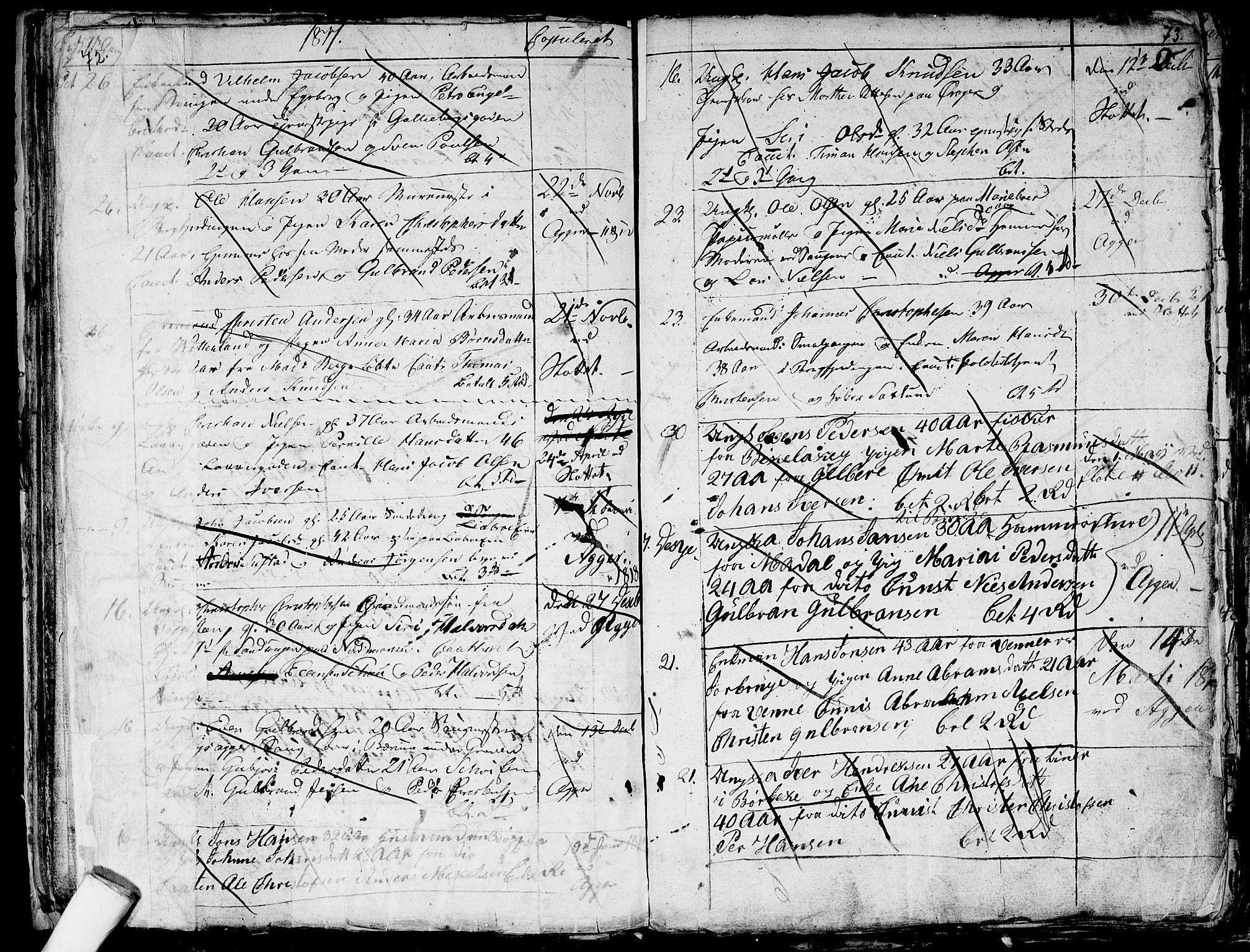 SAO, Aker prestekontor kirkebøker, G/L0001: Klokkerbok nr. 1, 1796-1826, s. 72-73