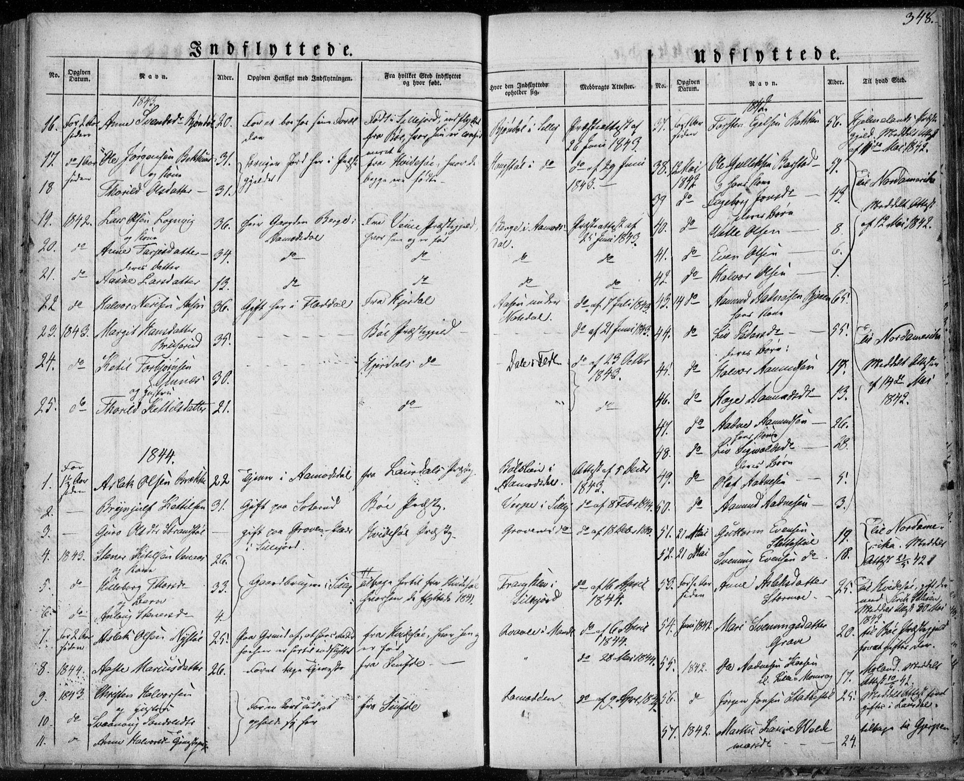 SAKO, Seljord kirkebøker, F/Fa/L0011: Ministerialbok nr. I 11, 1831-1849, s. 348