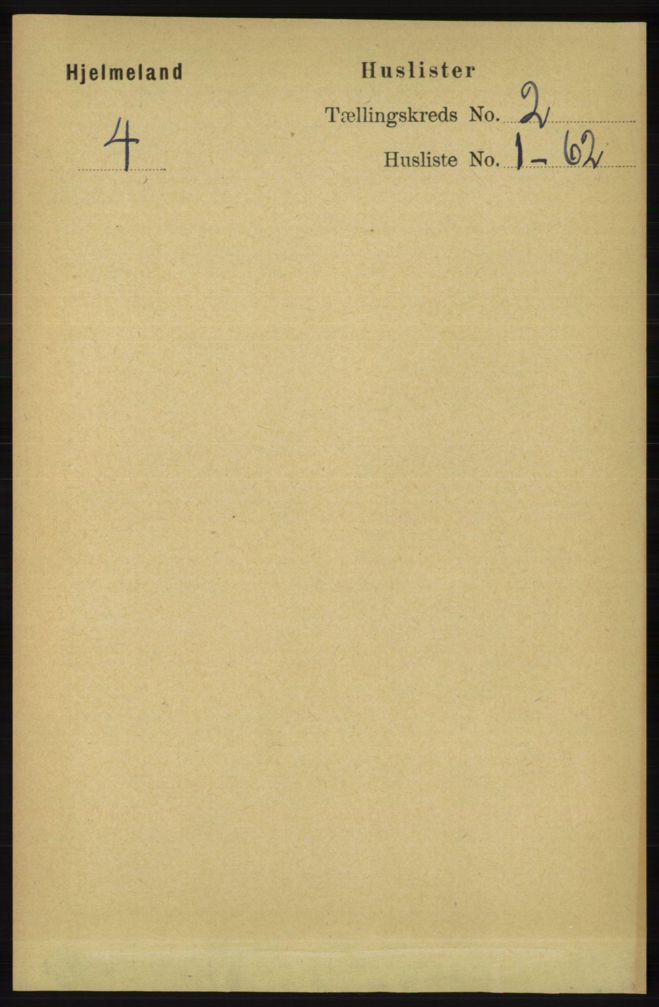 RA, Folketelling 1891 for 1133 Hjelmeland herred, 1891, s. 319
