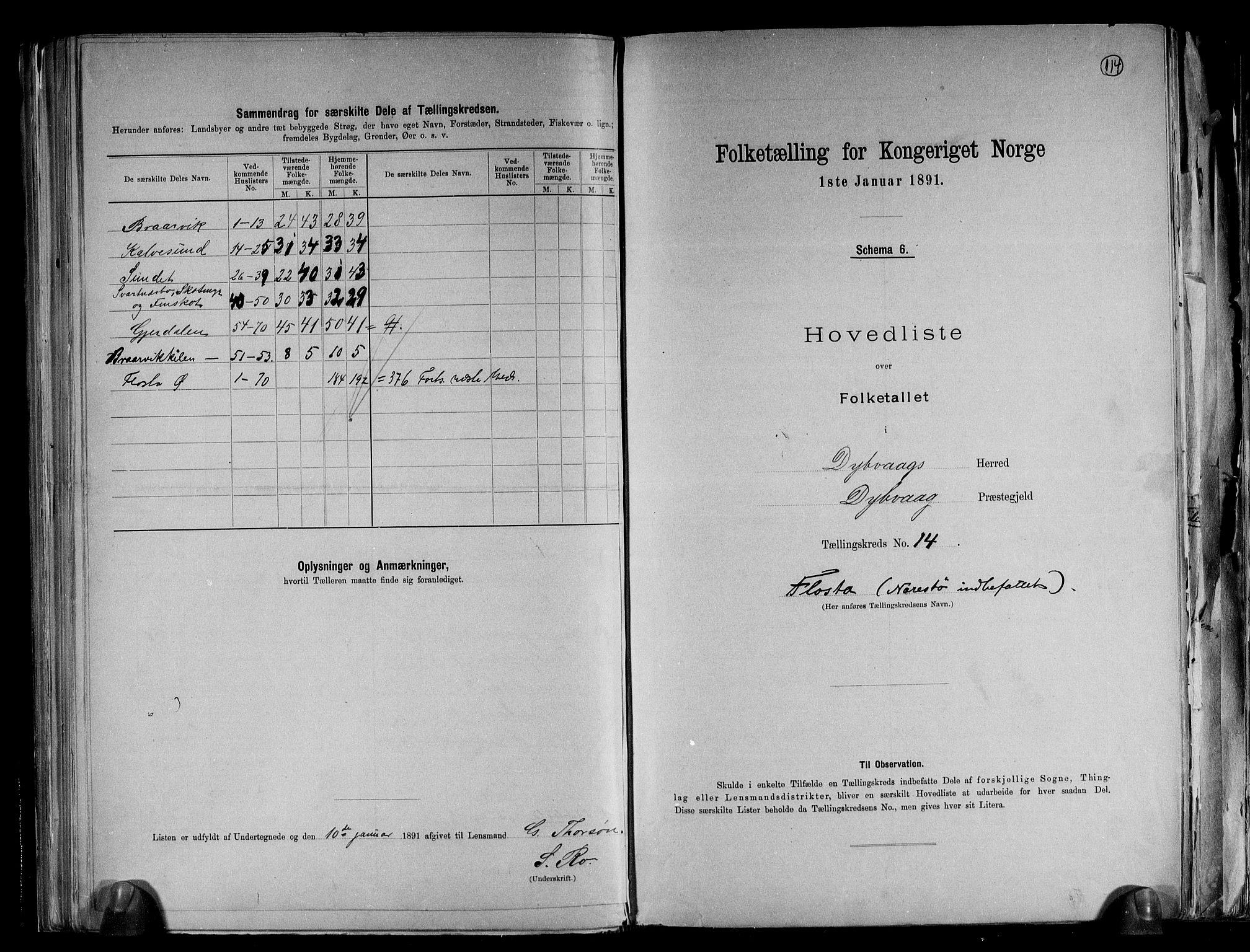 RA, Folketelling 1891 for 0915 Dypvåg herred, 1891, s. 36