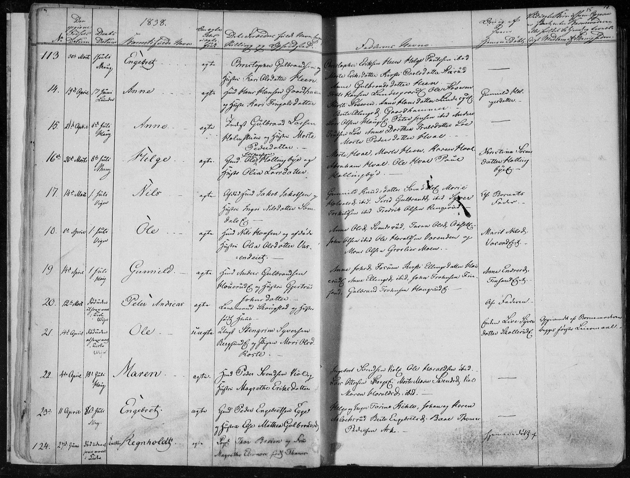 SAKO, Norderhov kirkebøker, F/Fa/L0010: Ministerialbok nr. 10, 1837-1847, s. 15