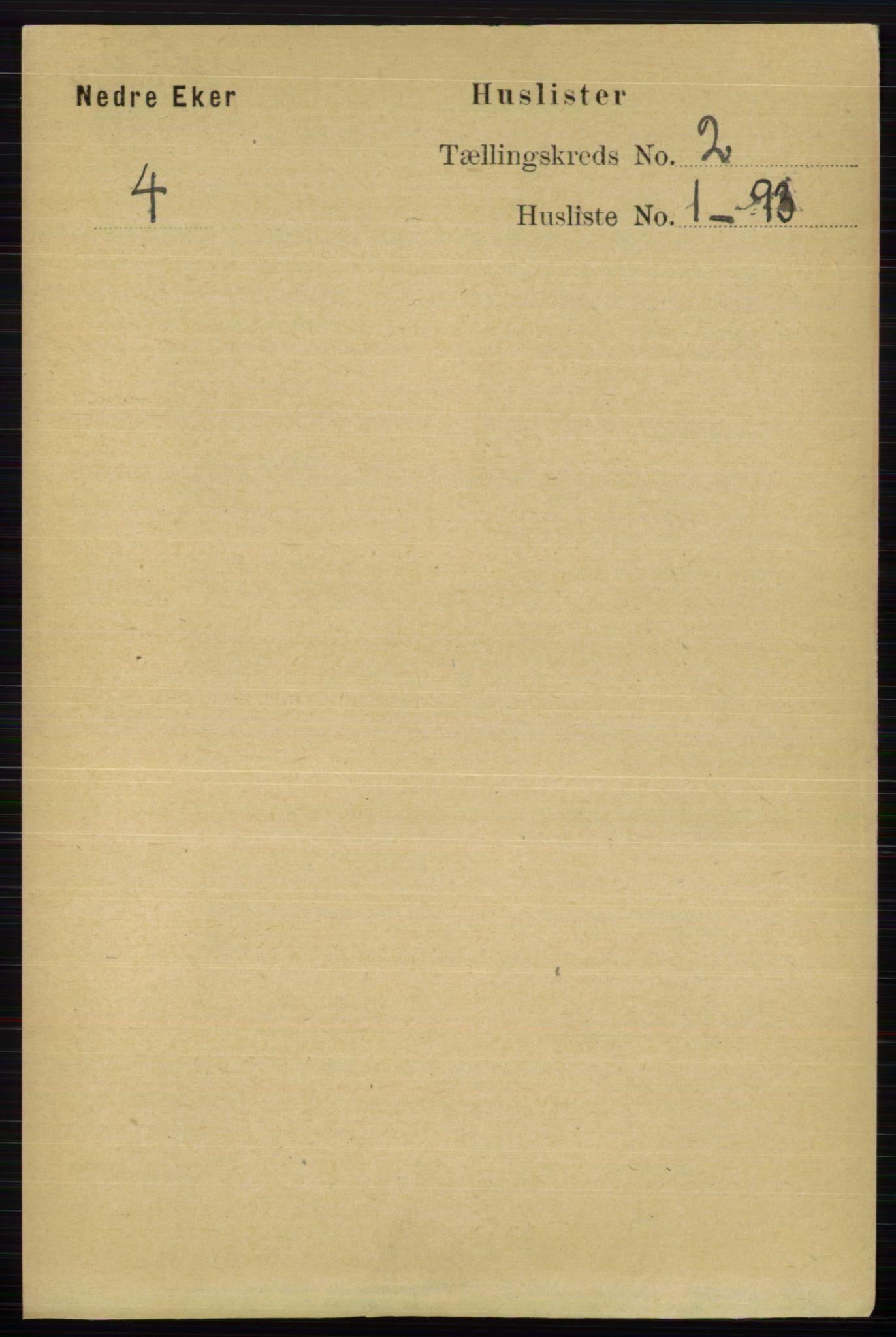 RA, Folketelling 1891 for 0625 Nedre Eiker herred, 1891, s. 446