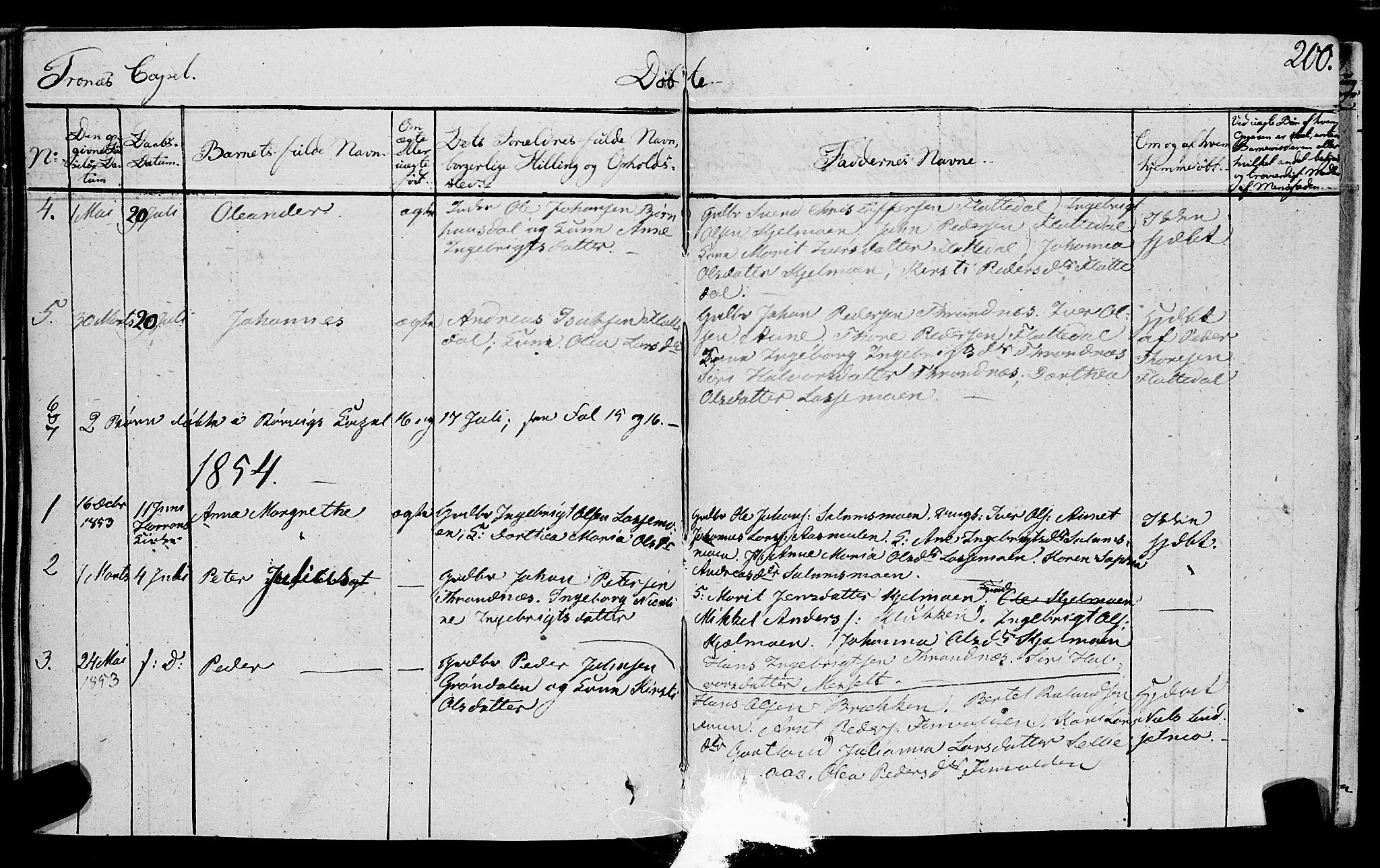 SAT, Ministerialprotokoller, klokkerbøker og fødselsregistre - Nord-Trøndelag, 762/L0538: Ministerialbok nr. 762A02 /2, 1833-1879, s. 200