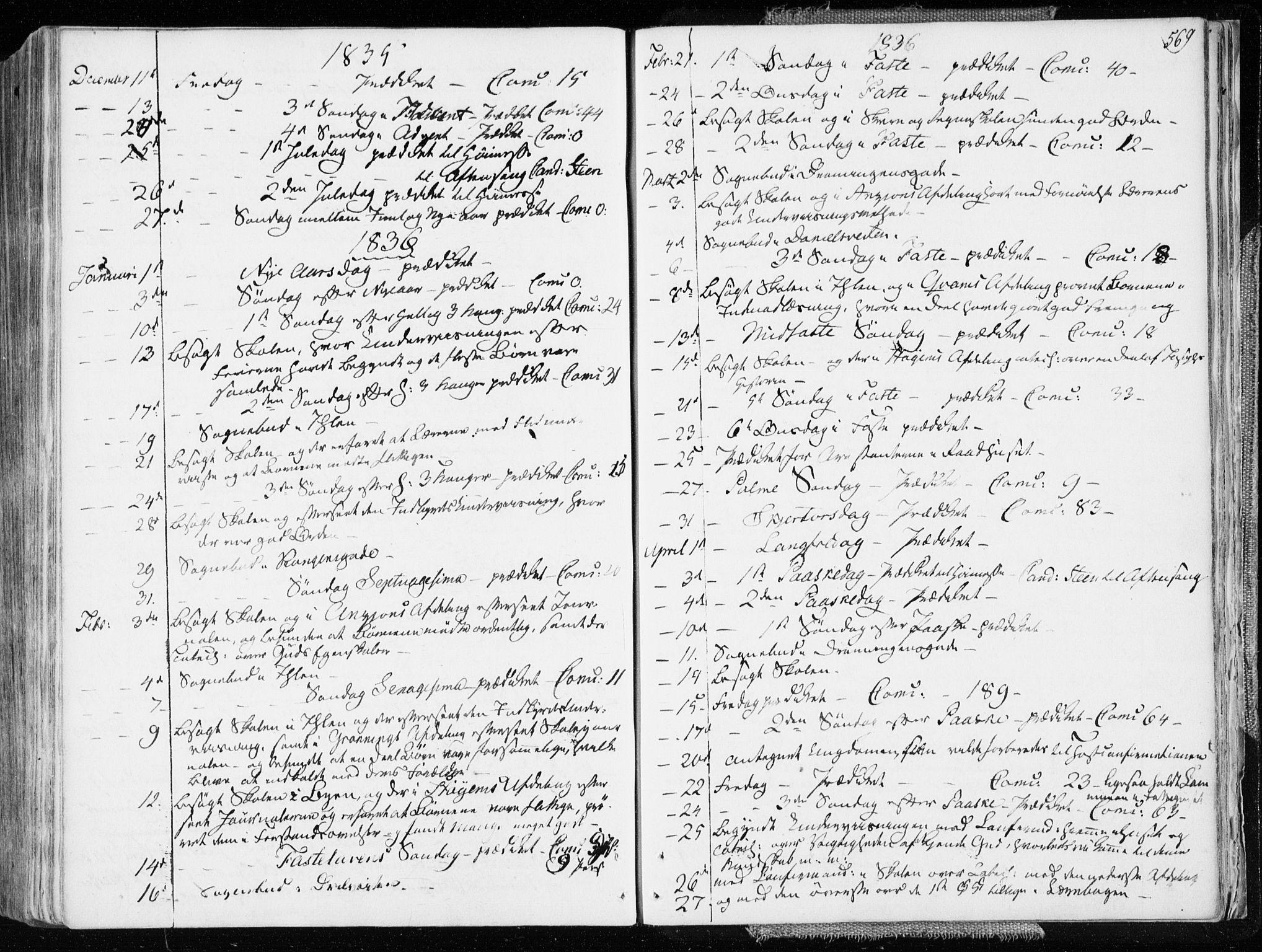 SAT, Ministerialprotokoller, klokkerbøker og fødselsregistre - Sør-Trøndelag, 601/L0047: Ministerialbok nr. 601A15, 1831-1839, s. 569