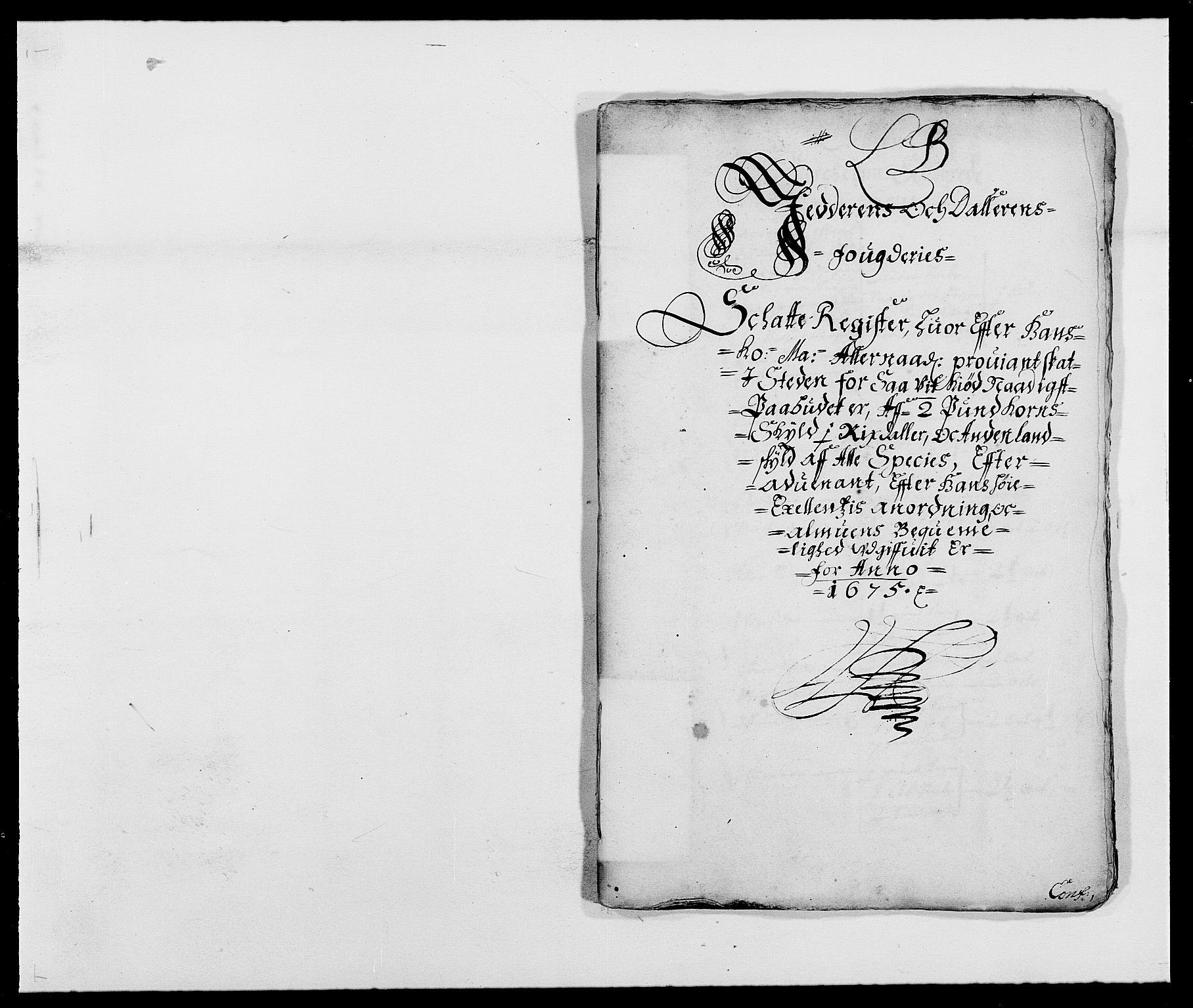 RA, Rentekammeret inntil 1814, Reviderte regnskaper, Fogderegnskap, R46/L2715: Fogderegnskap Jæren og Dalane, 1675, s. 69