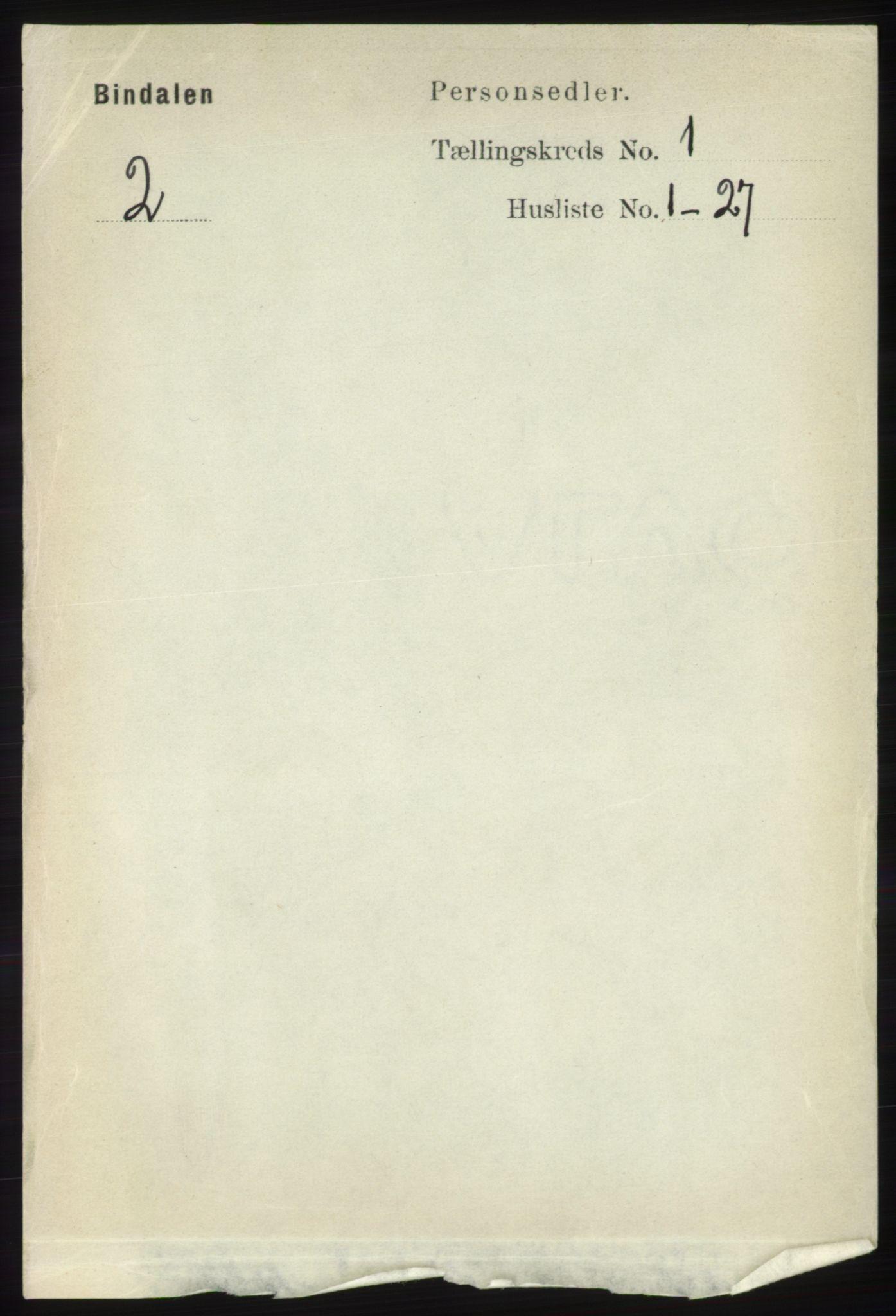 RA, Folketelling 1891 for 1811 Bindal herred, 1891, s. 54