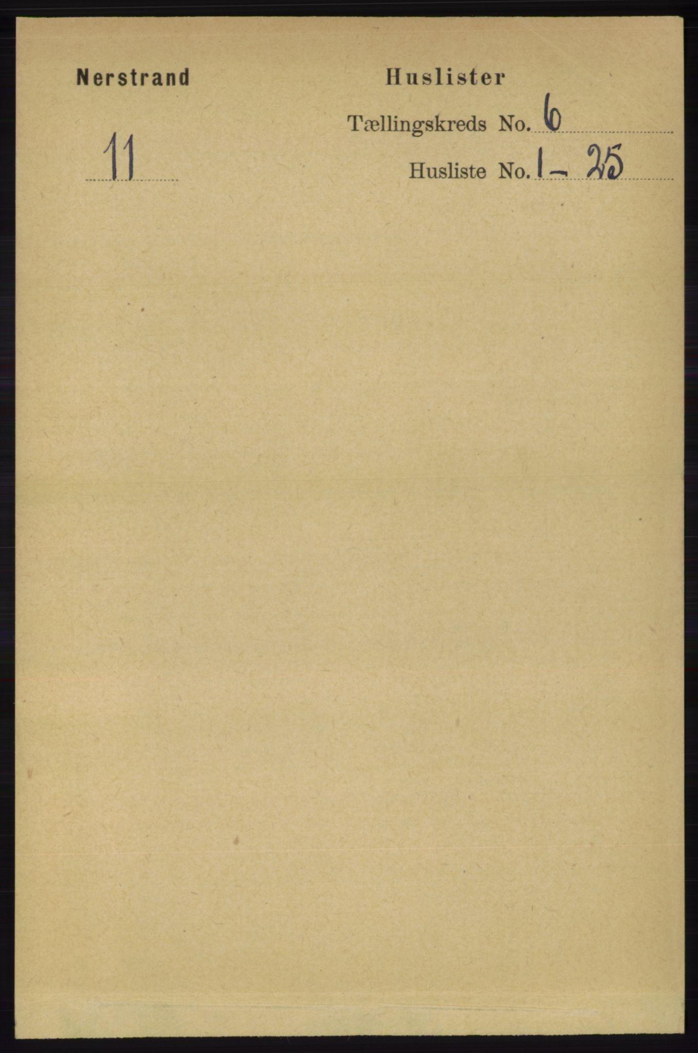 RA, Folketelling 1891 for 1139 Nedstrand herred, 1891, s. 997