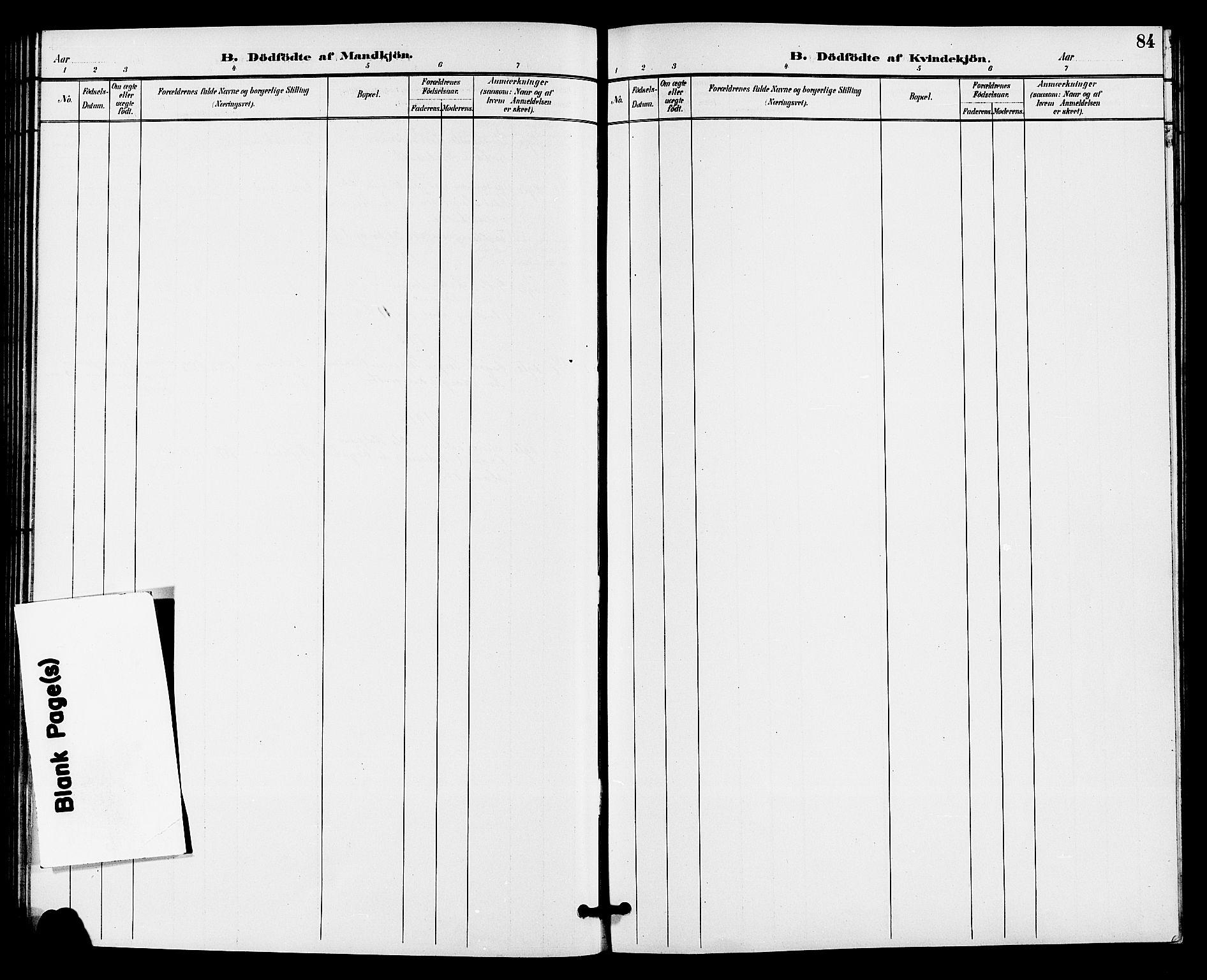 SAKO, Gransherad kirkebøker, G/Ga/L0003: Klokkerbok nr. I 3, 1887-1915, s. 84