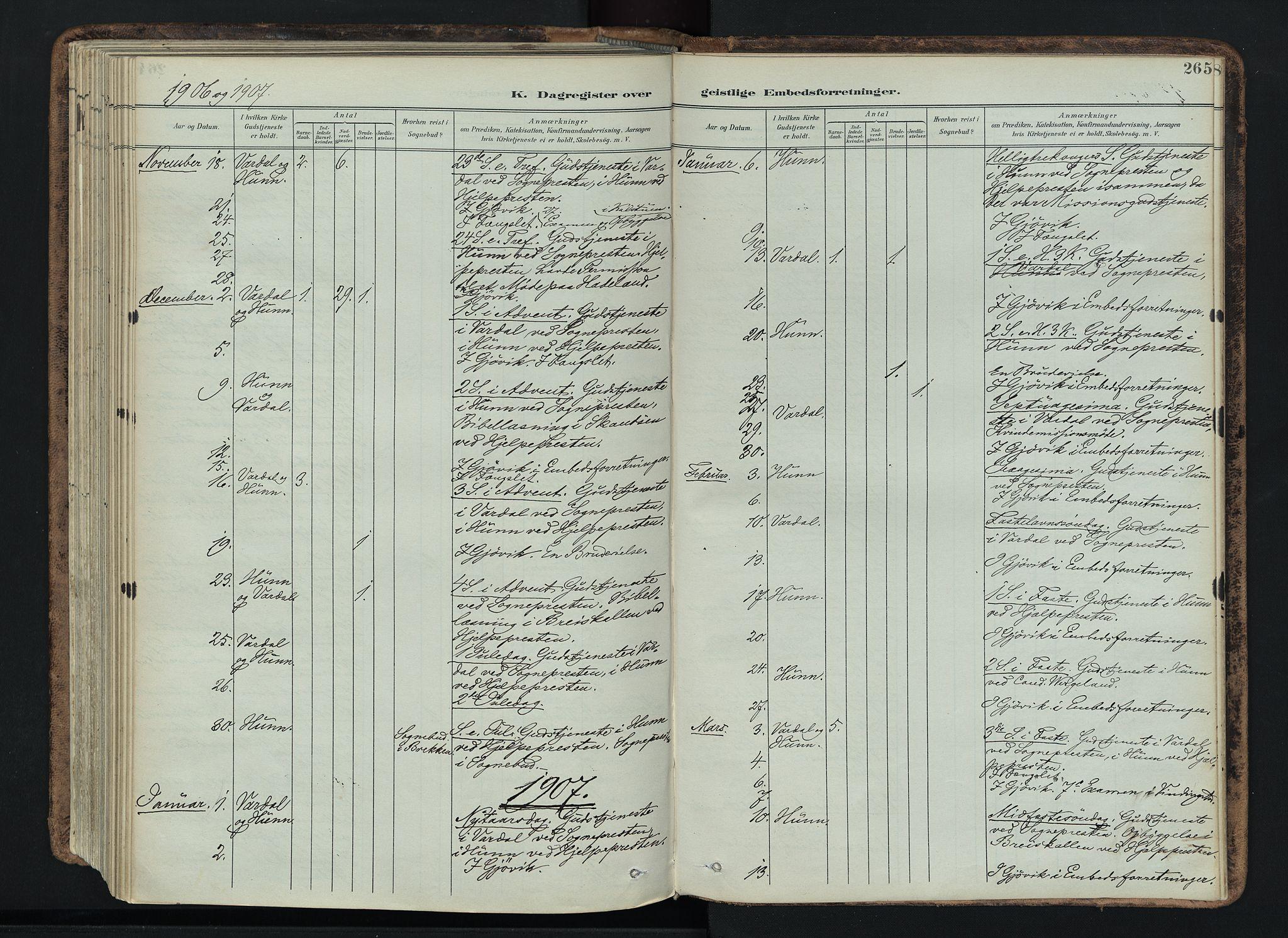 SAH, Vardal prestekontor, H/Ha/Haa/L0019: Ministerialbok nr. 19, 1893-1907, s. 265