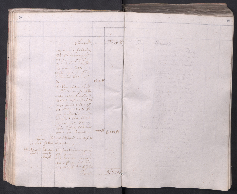 SAO, Kristiania stiftamt, I/Ia/L0015: Branntakster, 1797, s. 64