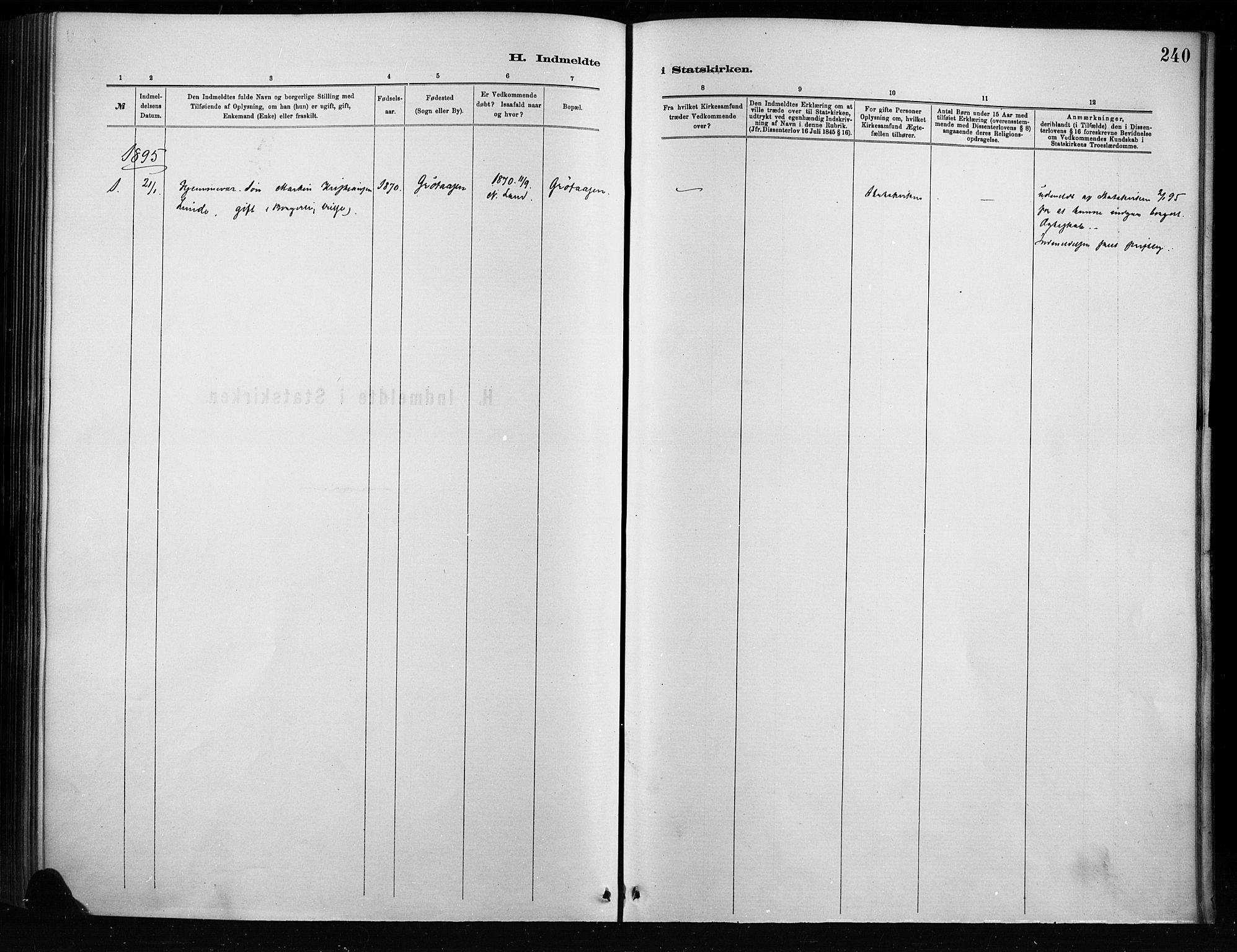 SAH, Nordre Land prestekontor, Ministerialbok nr. 4, 1882-1896, s. 240
