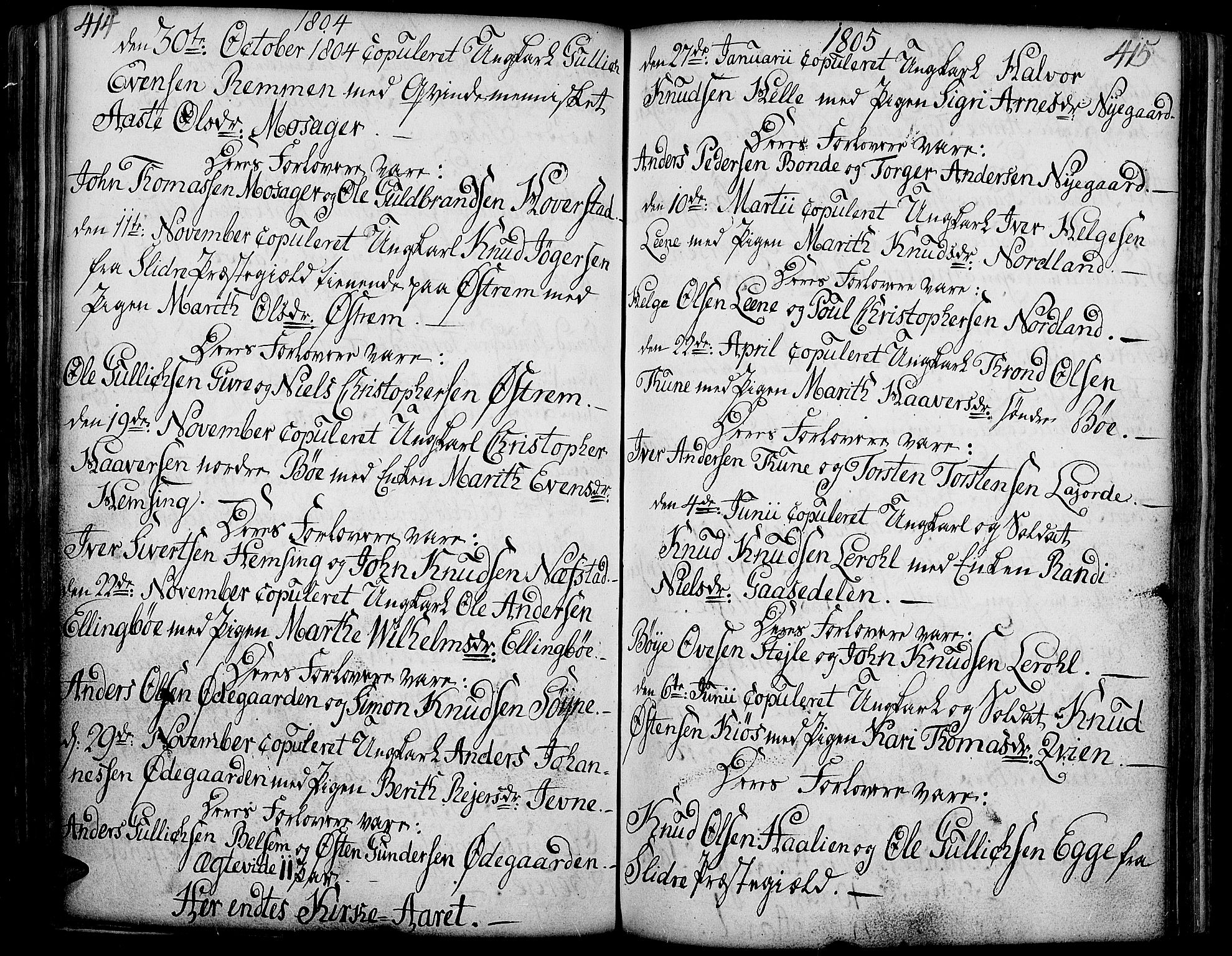 SAH, Vang prestekontor, Valdres, Ministerialbok nr. 2, 1796-1808, s. 414-415
