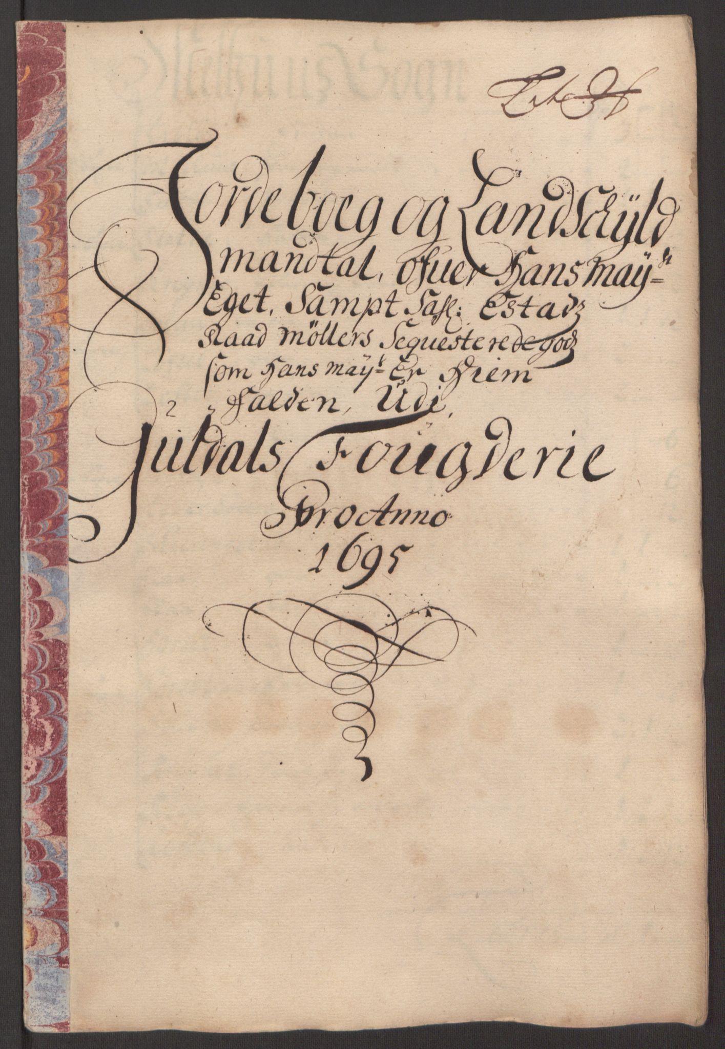 RA, Rentekammeret inntil 1814, Reviderte regnskaper, Fogderegnskap, R60/L3945: Fogderegnskap Orkdal og Gauldal, 1695, s. 362