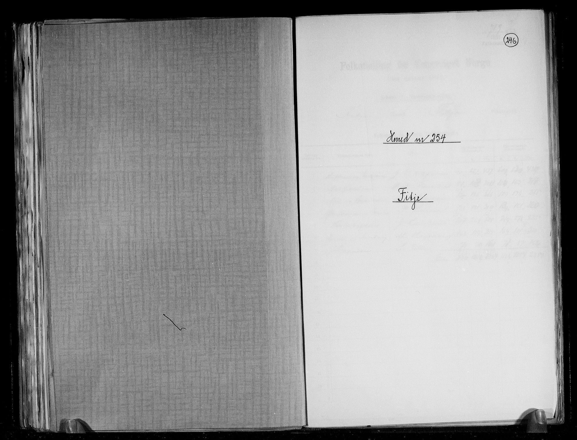 RA, Folketelling 1891 for 1222 Fitjar herred, 1891, s. 1