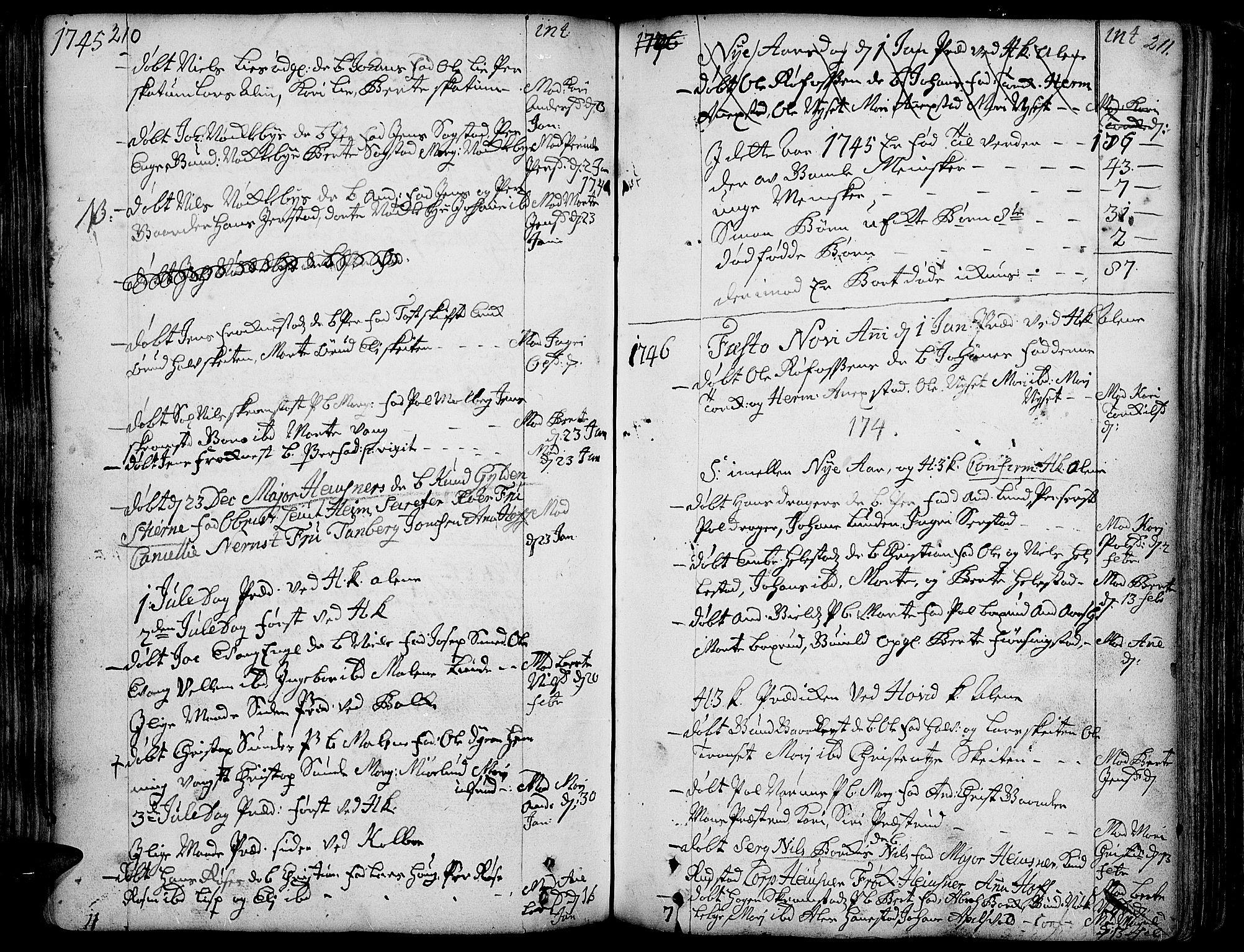 SAH, Toten prestekontor, Ministerialbok nr. 3, 1734-1751, s. 210-211