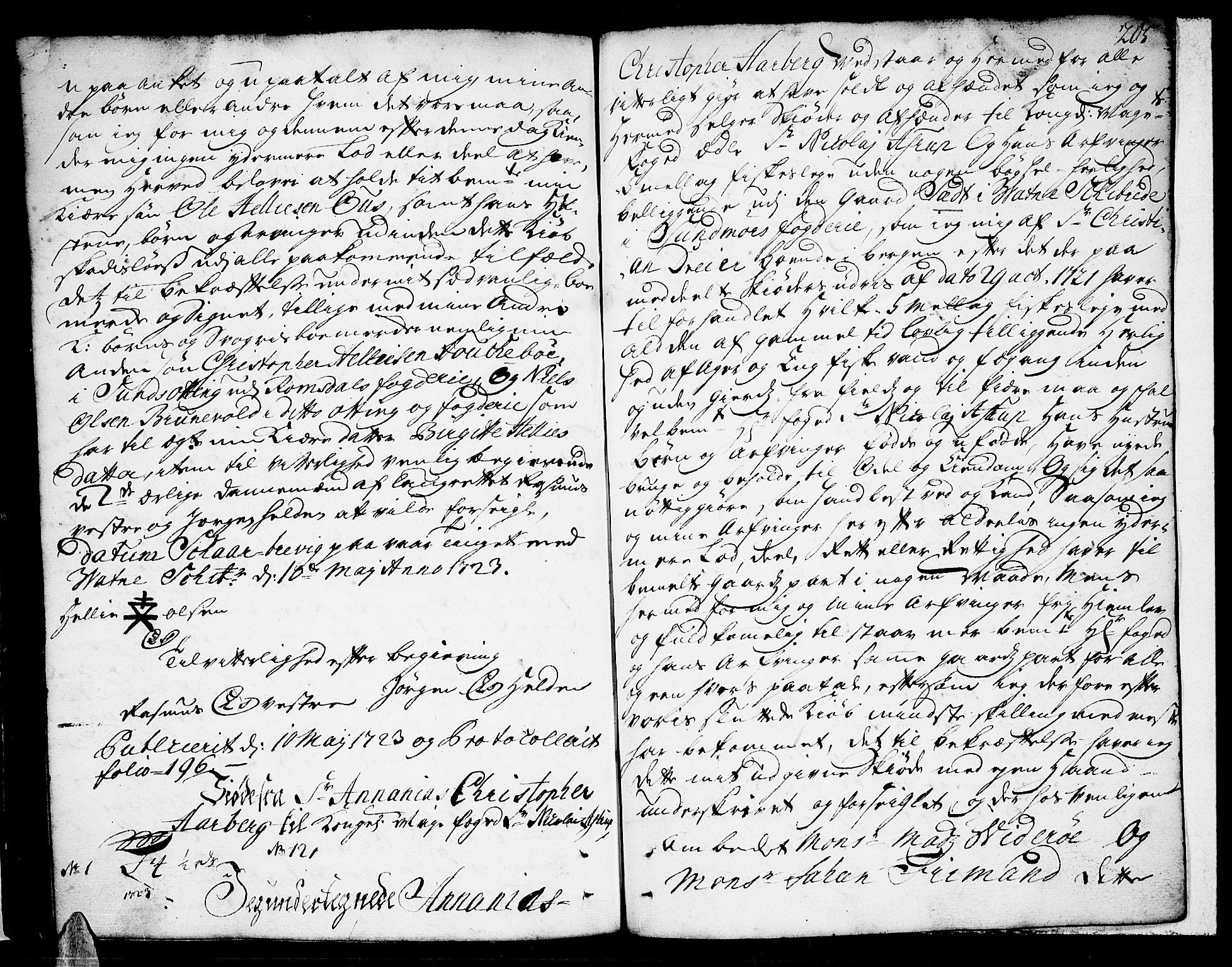 SAT, Sunnmøre sorenskriveri, 2/2C/L0001: Pantebok nr. 1, 1707-1724, s. 205