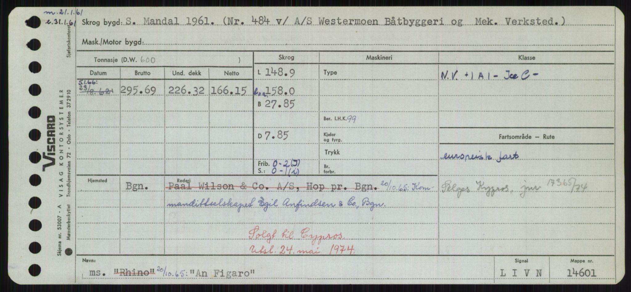 RA, Sjøfartsdirektoratet med forløpere, Skipsmålingen, H/Hd/L0001: Fartøy, A-Anv, s. 503