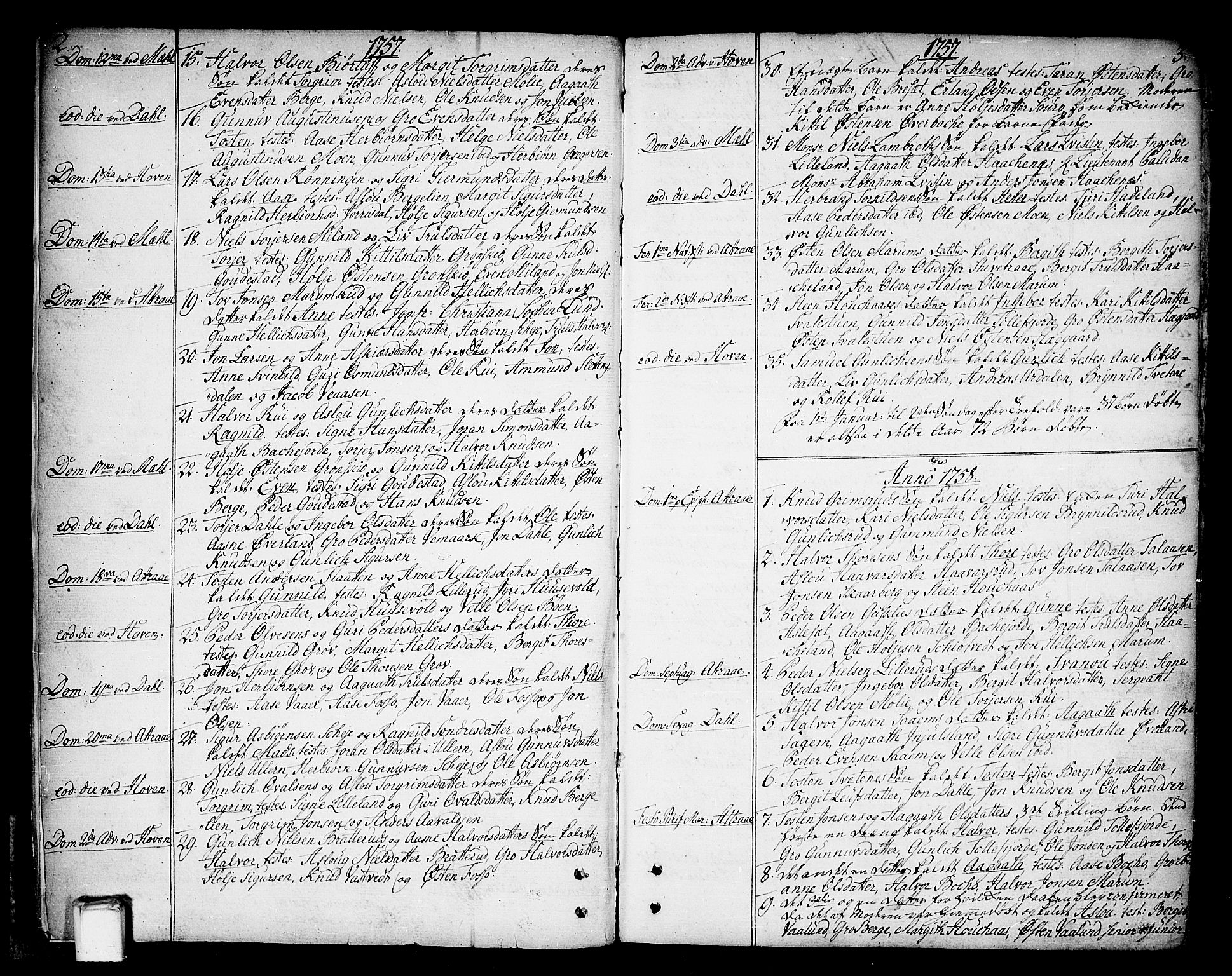 SAKO, Tinn kirkebøker, F/Fa/L0002: Ministerialbok nr. I 2, 1757-1810, s. 2-3