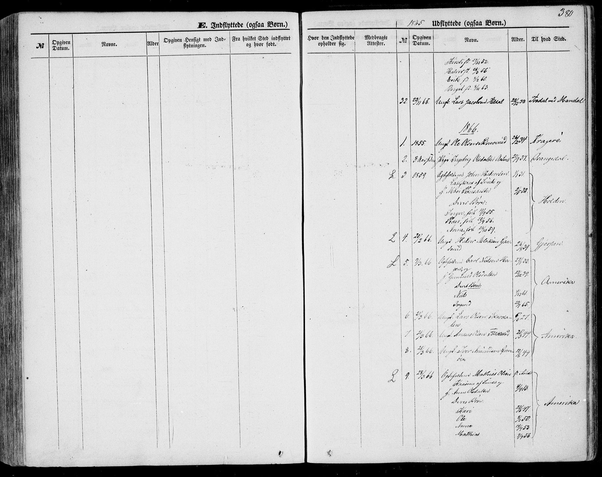 SAKO, Bø kirkebøker, F/Fa/L0009: Ministerialbok nr. 9, 1862-1879, s. 380