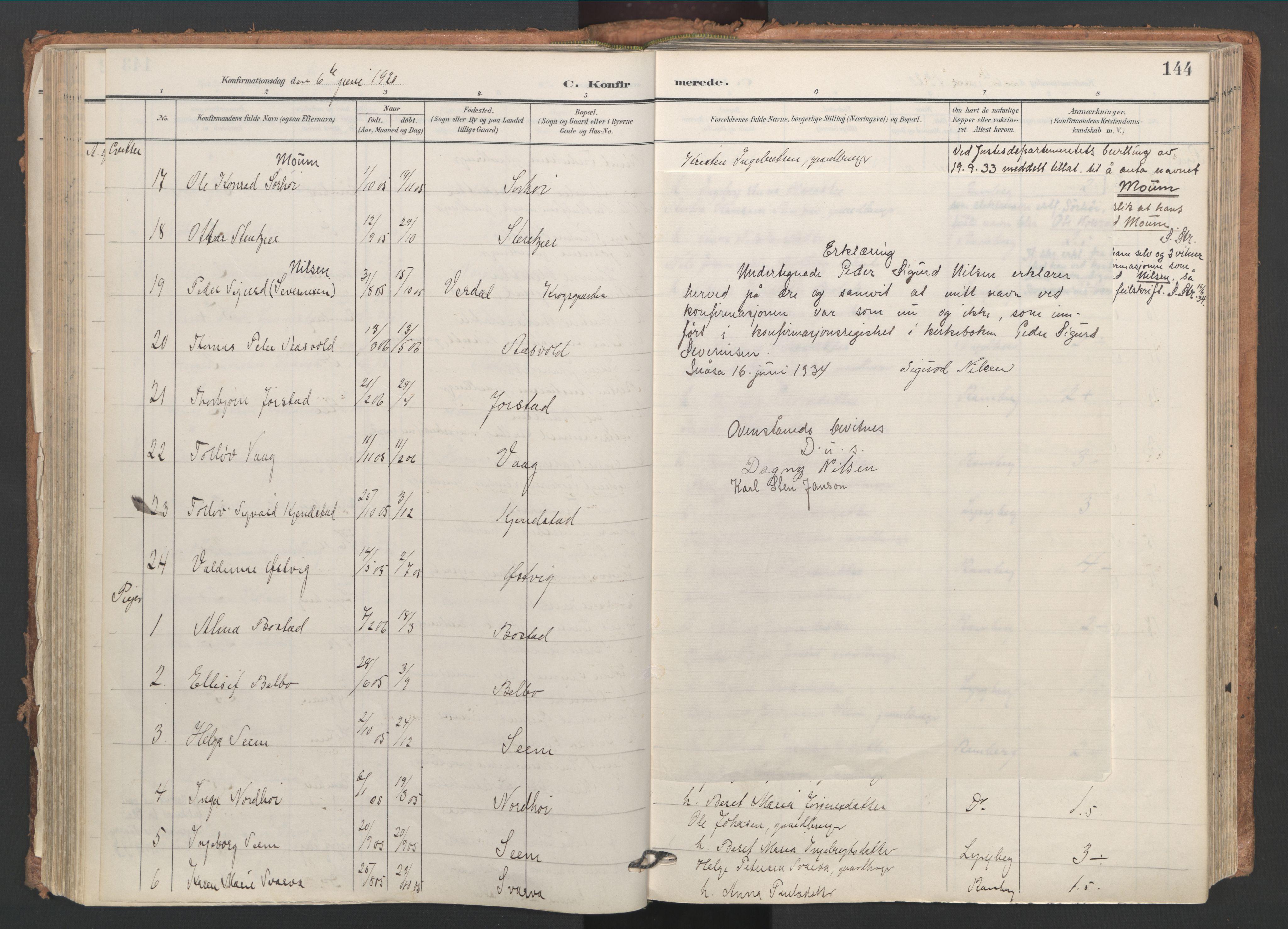 SAT, Ministerialprotokoller, klokkerbøker og fødselsregistre - Nord-Trøndelag, 749/L0477: Ministerialbok nr. 749A11, 1902-1927, s. 144