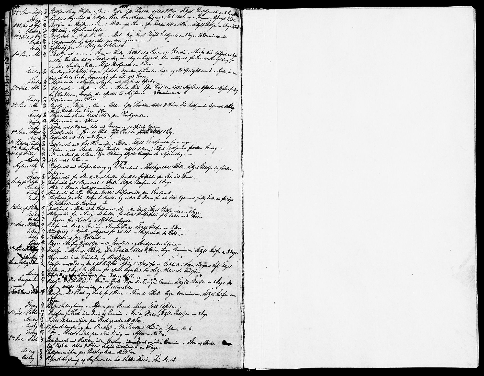 SAST, Strand sokneprestkontor, H/Ha/Haa/L0007: Ministerialbok nr. A 7, 1855-1881