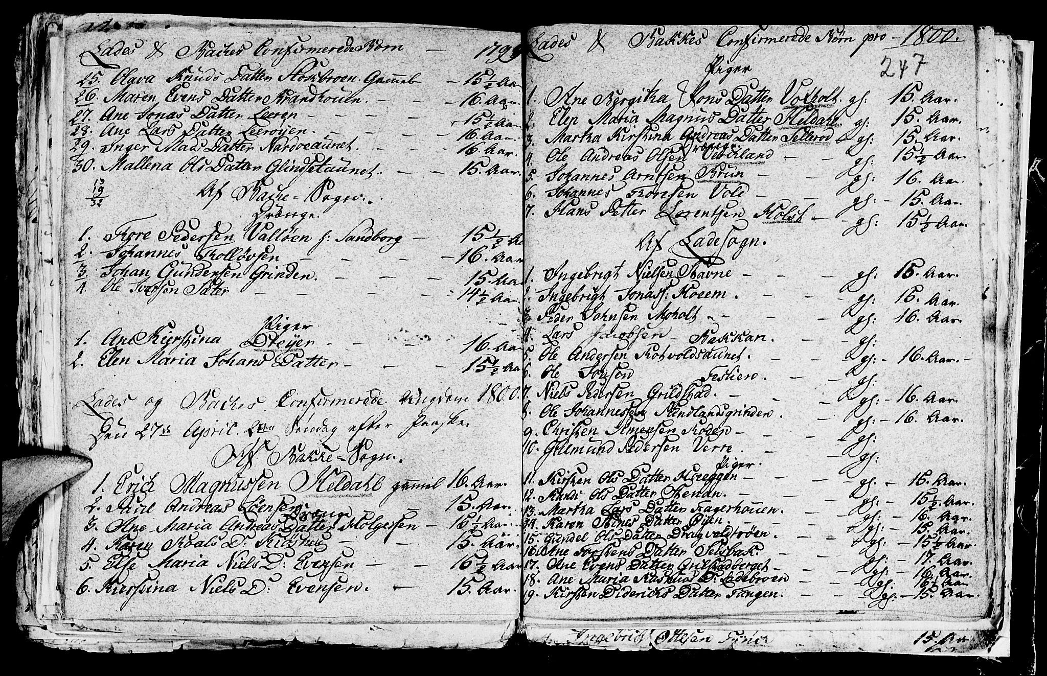 SAT, Ministerialprotokoller, klokkerbøker og fødselsregistre - Sør-Trøndelag, 604/L0218: Klokkerbok nr. 604C01, 1754-1819, s. 247