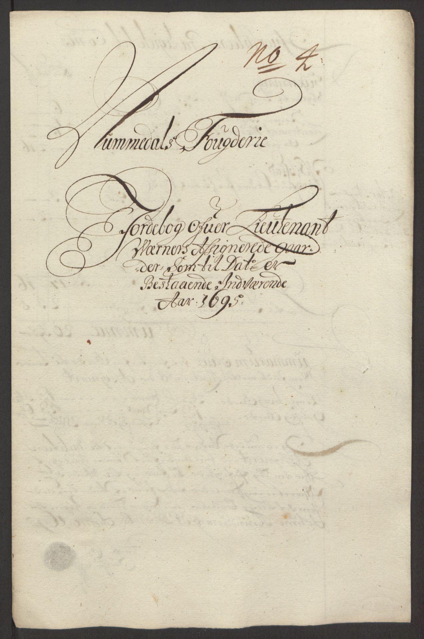 RA, Rentekammeret inntil 1814, Reviderte regnskaper, Fogderegnskap, R64/L4424: Fogderegnskap Namdal, 1692-1695, s. 520