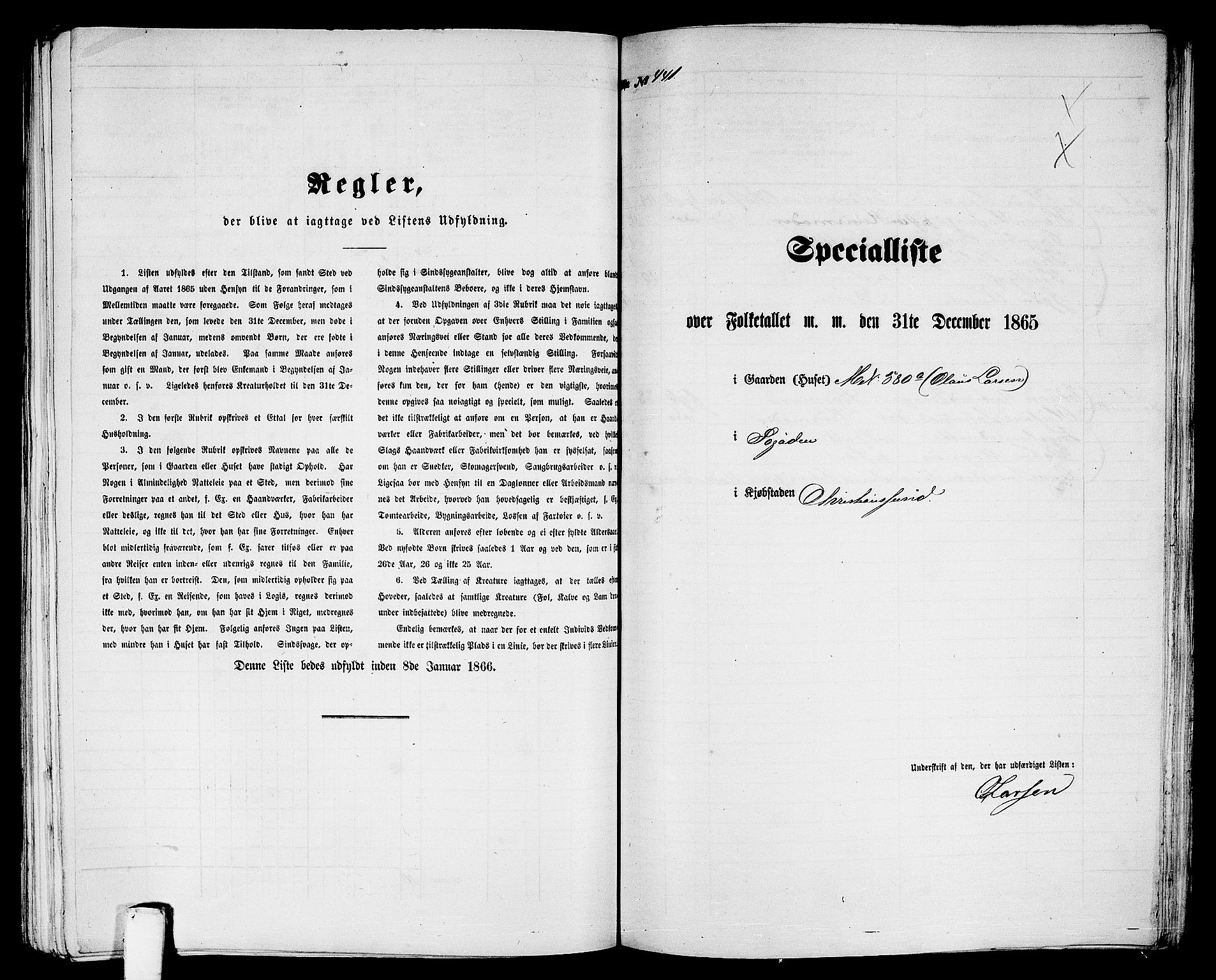 RA, Folketelling 1865 for 1503B Kristiansund prestegjeld, Kristiansund kjøpstad, 1865, s. 897