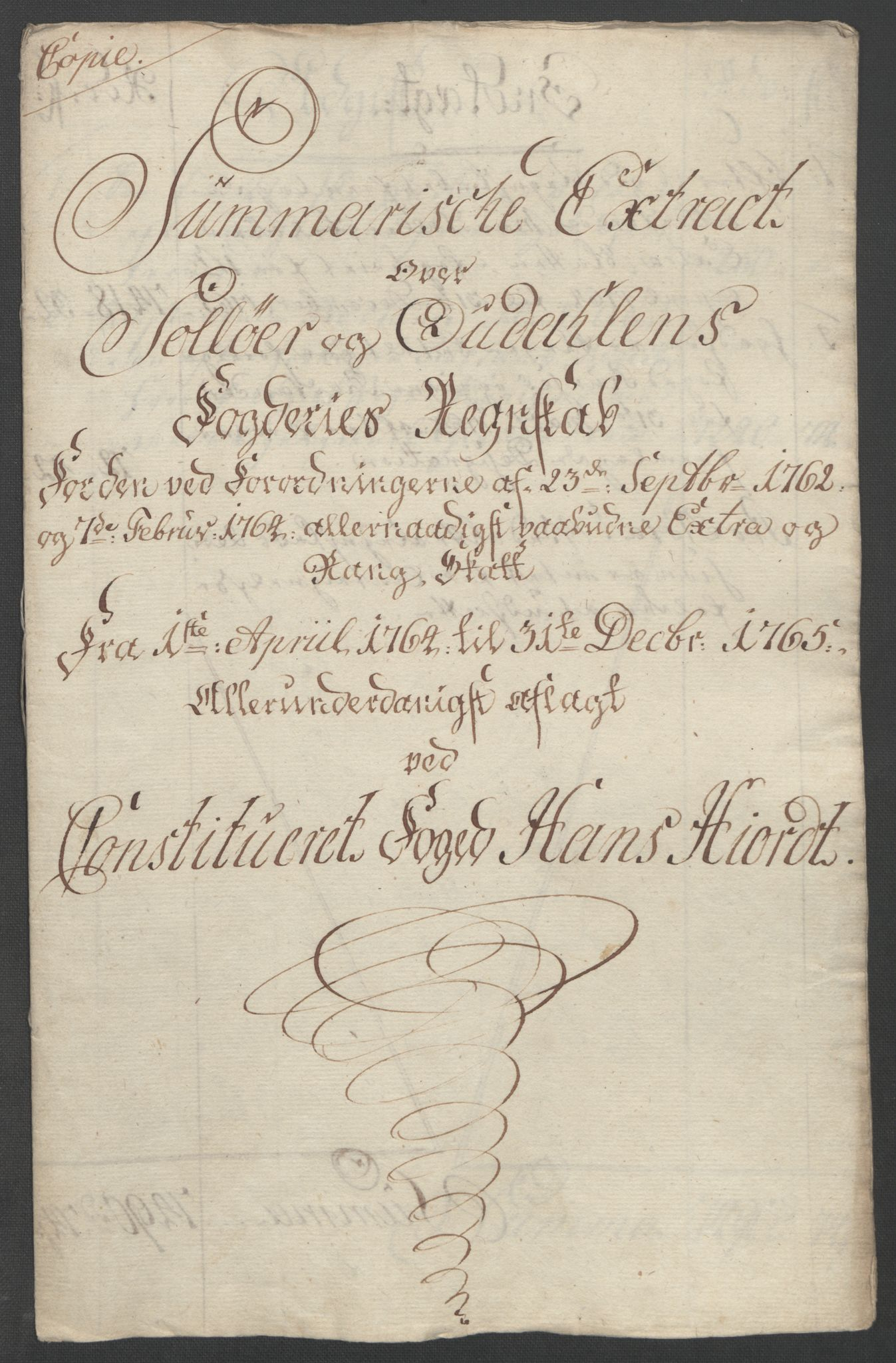 RA, Rentekammeret inntil 1814, Reviderte regnskaper, Fogderegnskap, R14/L0959: Ekstraskatten Solør og Odal, 1763-1770, s. 422