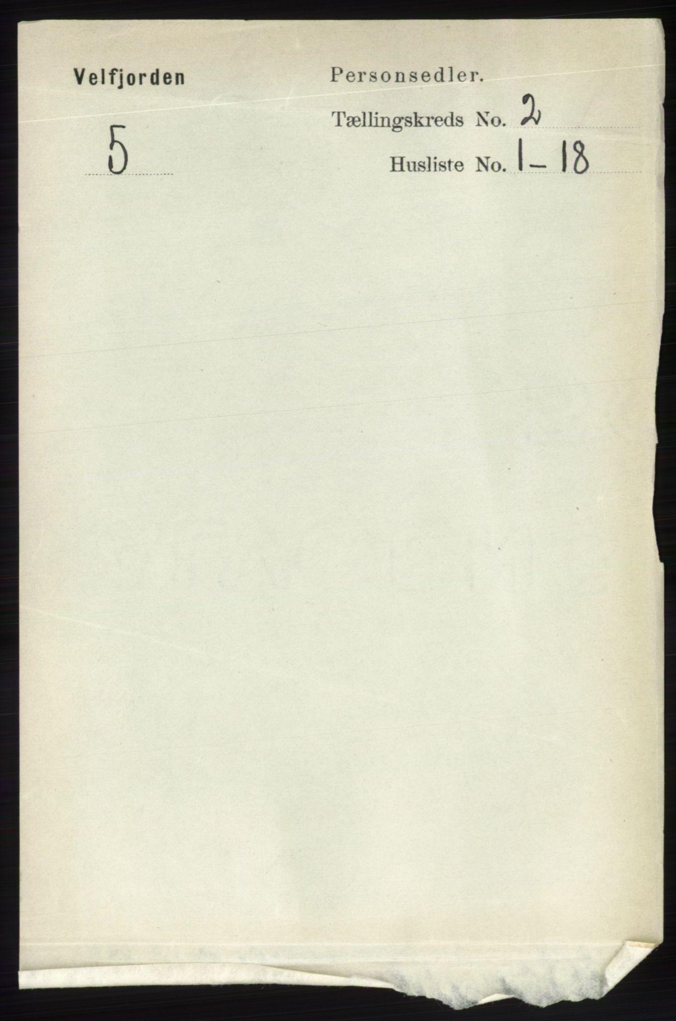 RA, Folketelling 1891 for 1813 Velfjord herred, 1891, s. 547