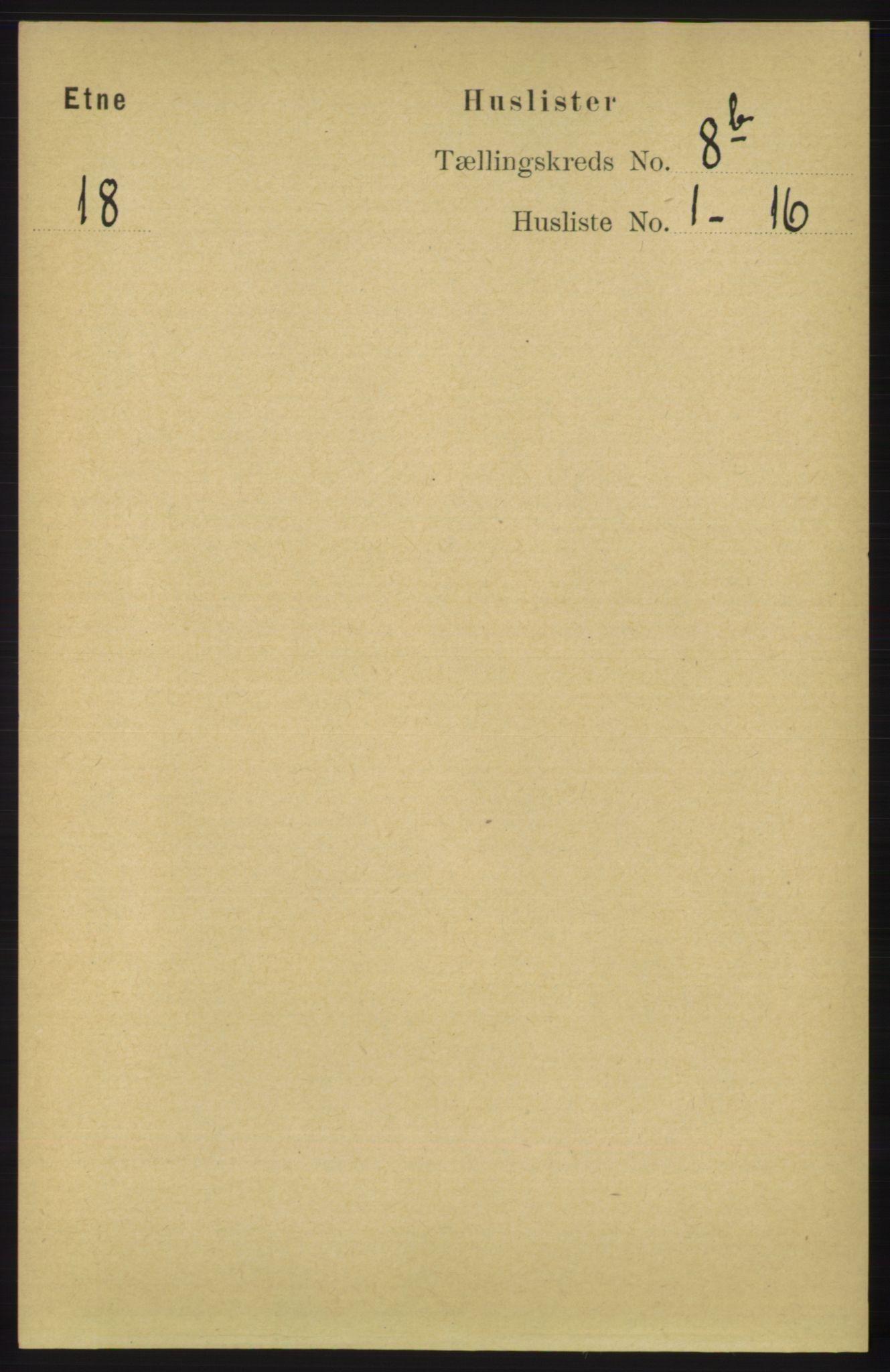 RA, Folketelling 1891 for 1211 Etne herred, 1891, s. 1599