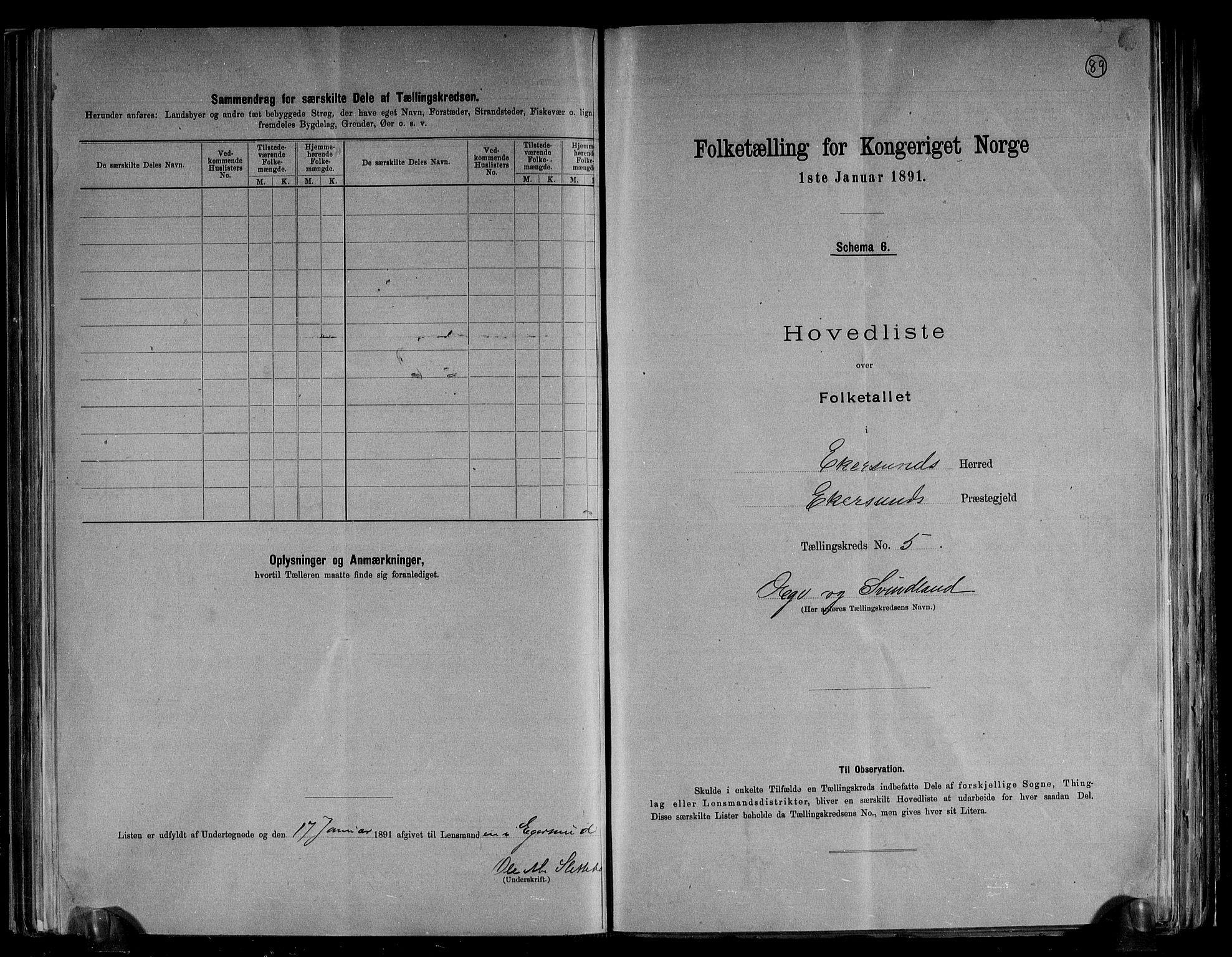 RA, Folketelling 1891 for 1116 Eigersund herred, 1891, s. 12