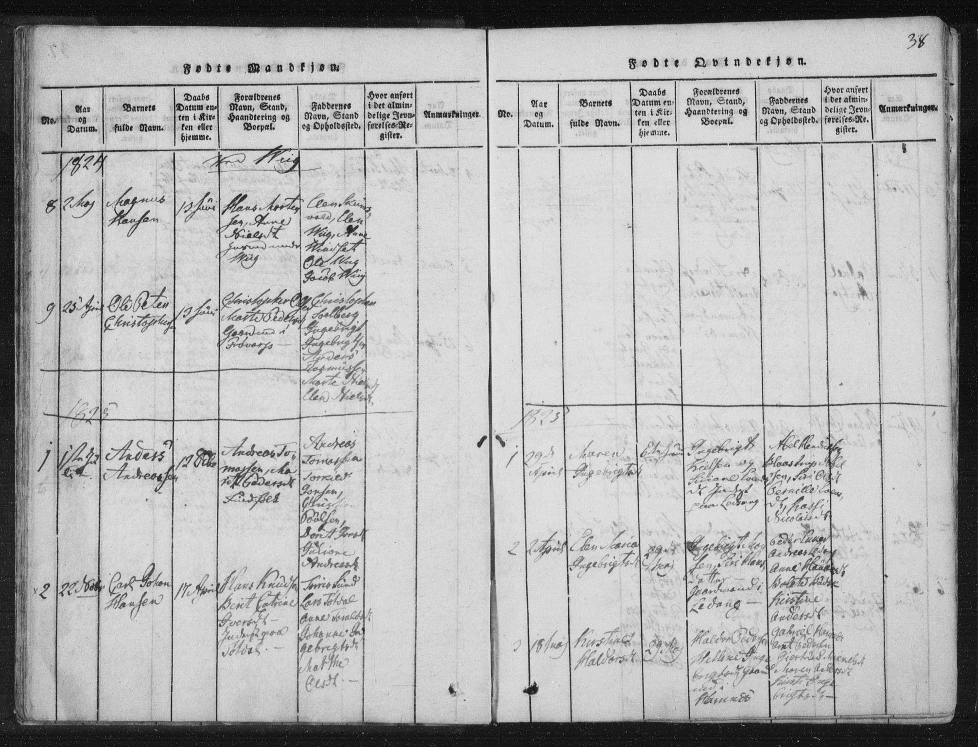 SAT, Ministerialprotokoller, klokkerbøker og fødselsregistre - Nord-Trøndelag, 773/L0609: Ministerialbok nr. 773A03 /2, 1815-1830, s. 38