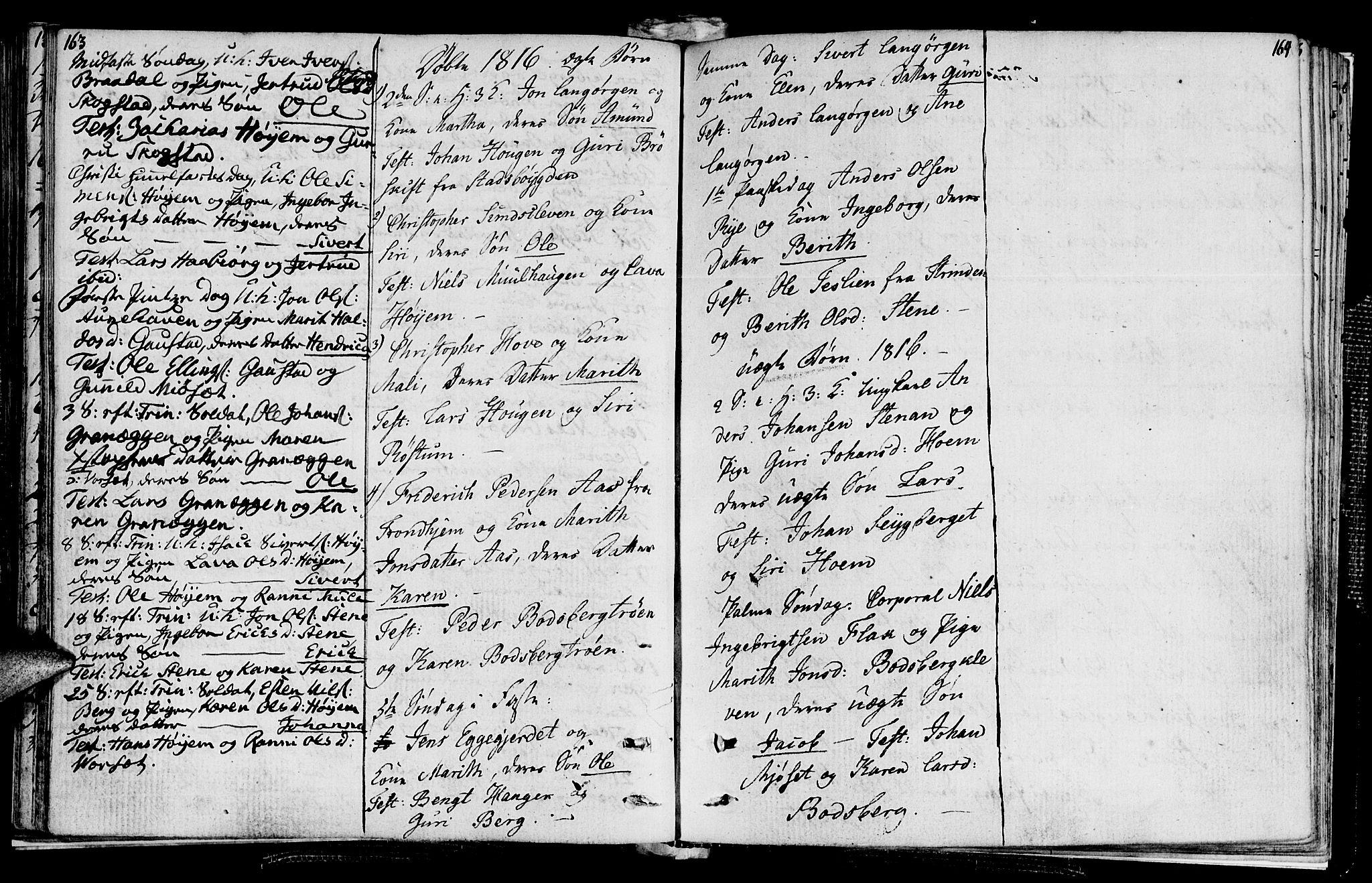 SAT, Ministerialprotokoller, klokkerbøker og fødselsregistre - Sør-Trøndelag, 612/L0371: Ministerialbok nr. 612A05, 1803-1816, s. 163-164