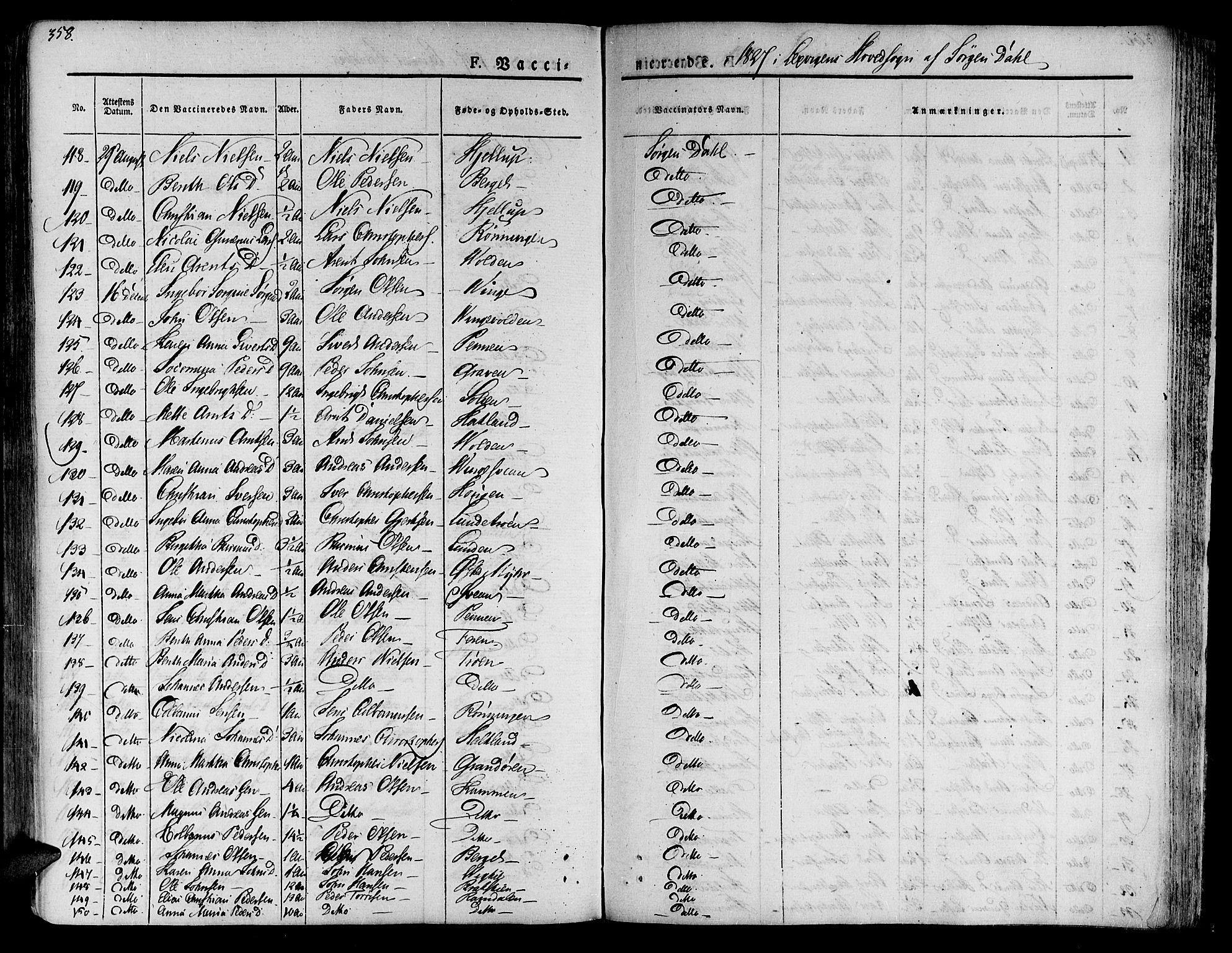 SAT, Ministerialprotokoller, klokkerbøker og fødselsregistre - Nord-Trøndelag, 701/L0006: Ministerialbok nr. 701A06, 1825-1841, s. 358