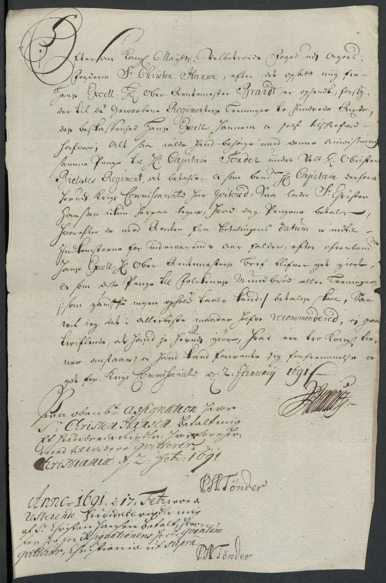 RA, Rentekammeret inntil 1814, Reviderte regnskaper, Fogderegnskap, R08/L0425: Fogderegnskap Aker, 1690-1691, s. 67