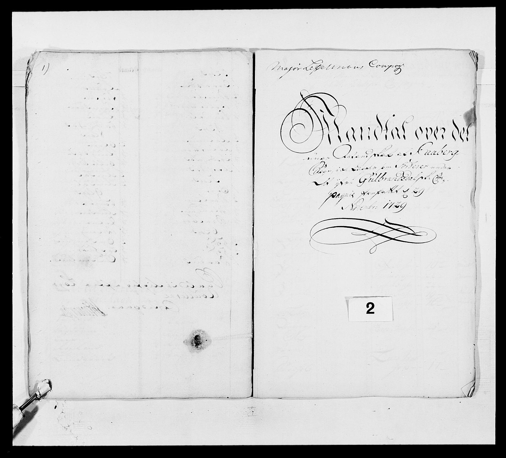 RA, Kommanderende general (KG I) med Det norske krigsdirektorium, E/Ea/L0502: 1. Opplandske regiment, 1720-1743, s. 23