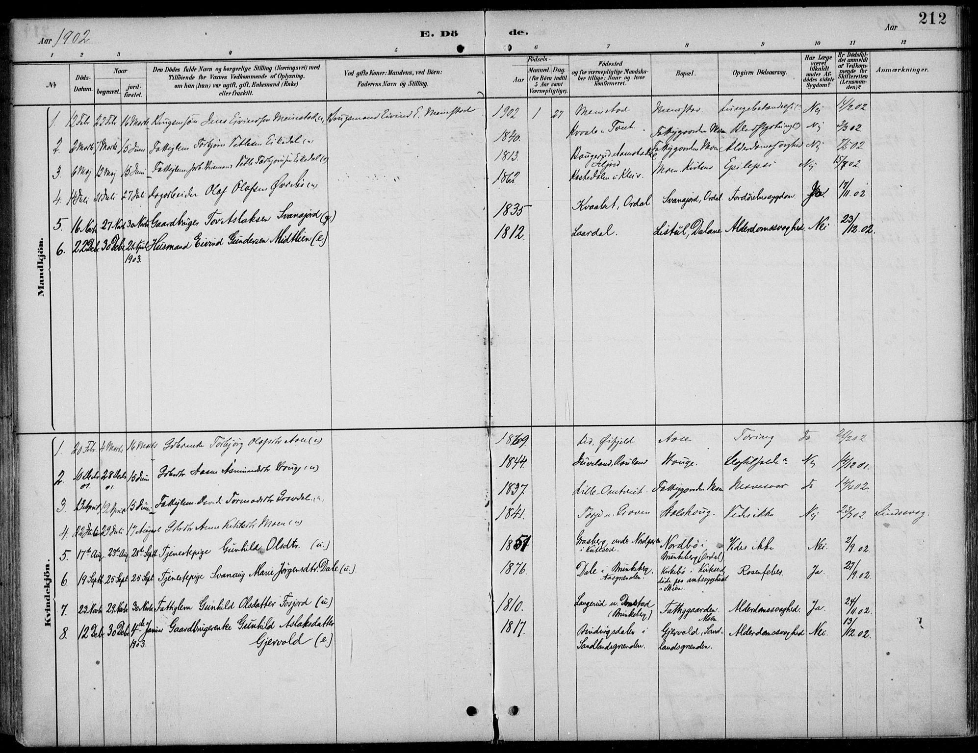 SAKO, Kviteseid kirkebøker, F/Fb/L0002: Ministerialbok nr. II 2, 1882-1916, s. 212