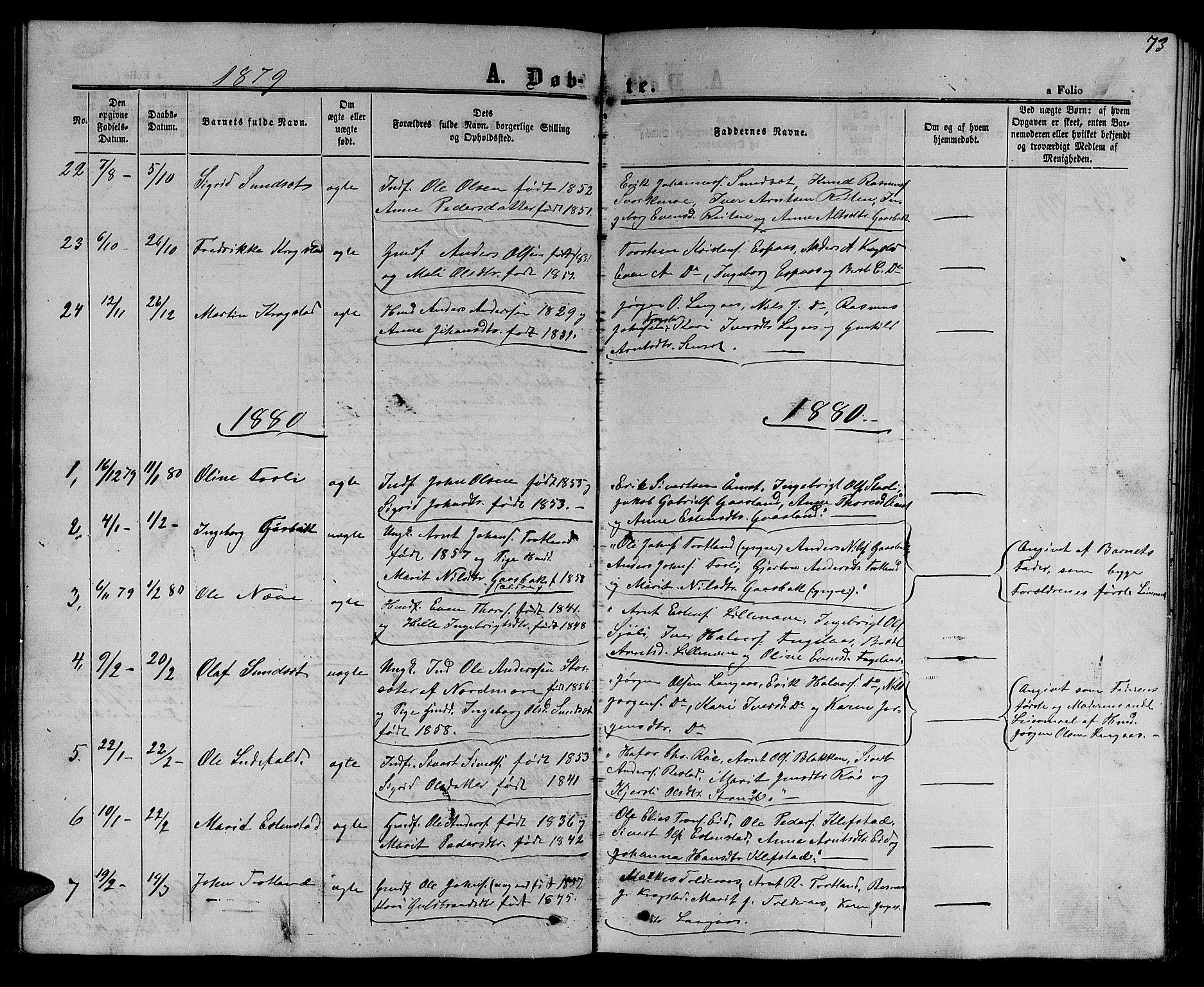 SAT, Ministerialprotokoller, klokkerbøker og fødselsregistre - Sør-Trøndelag, 694/L1131: Klokkerbok nr. 694C03, 1858-1886, s. 73